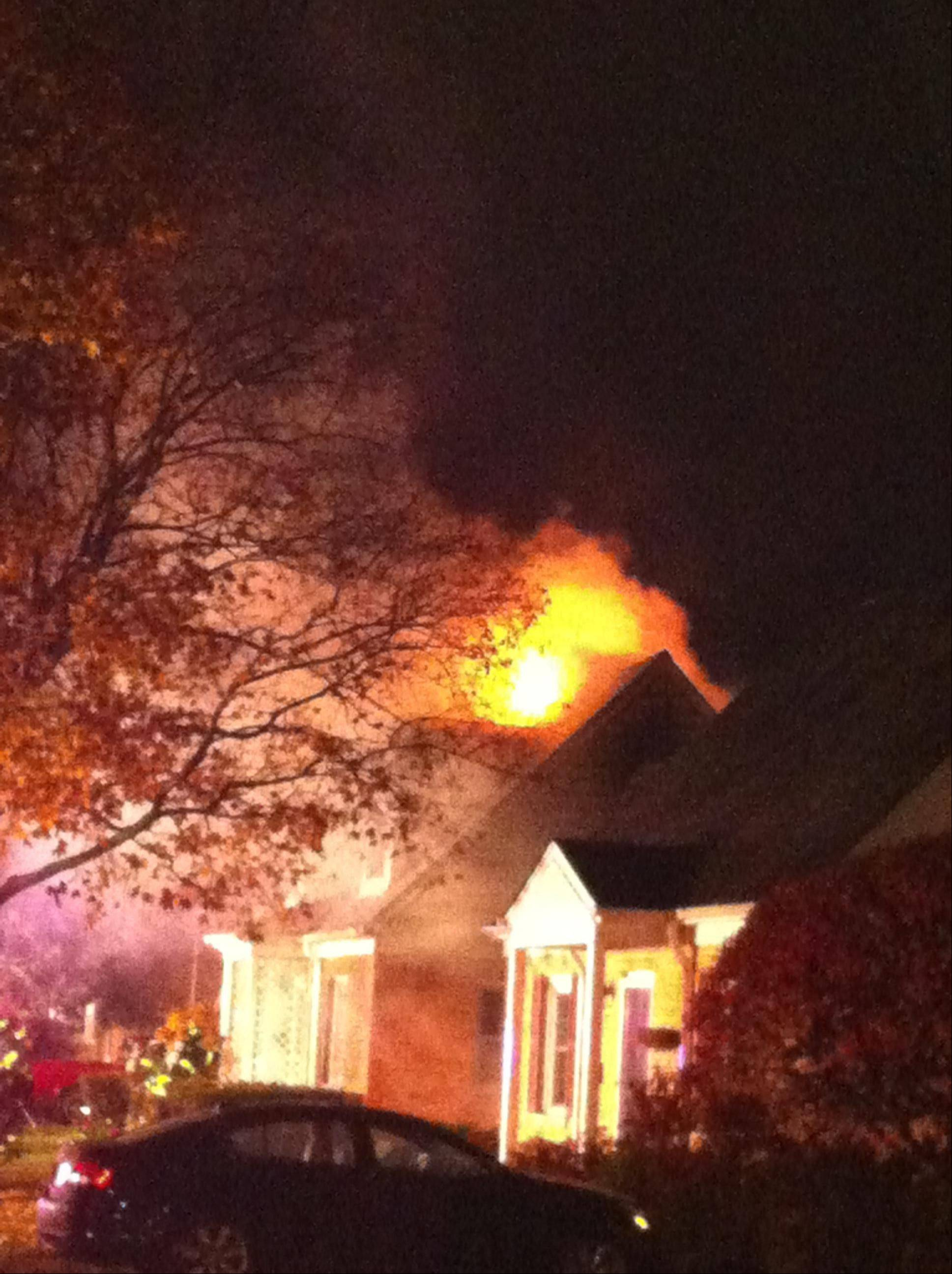 Neighbors were awakened by the early morning house fire in Arlington Heights.