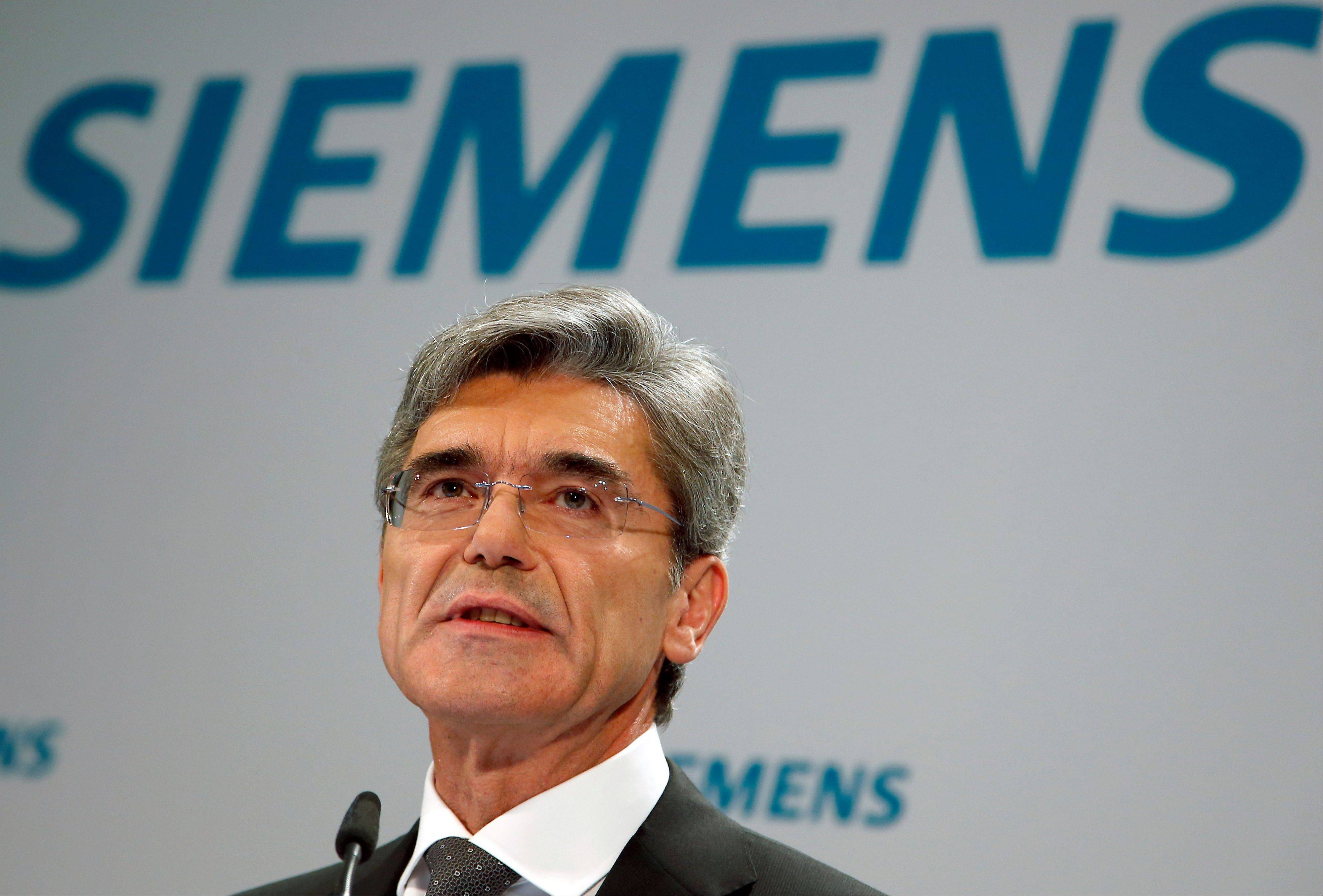 Joe Kaeser, President and CEO of Siemens