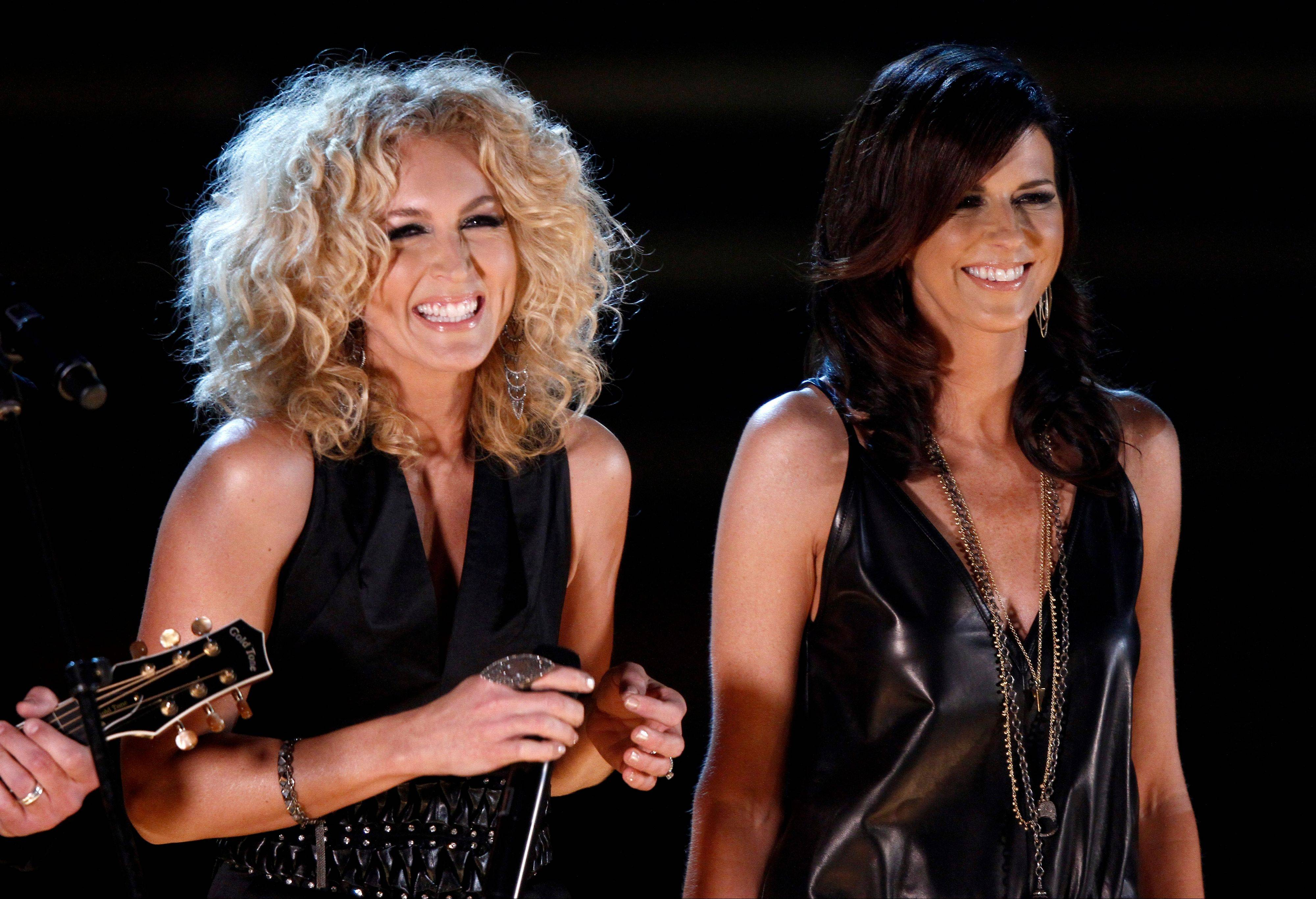 Little Big Town , from left, Kimberly Schlapman, and Karen Fairchild perform