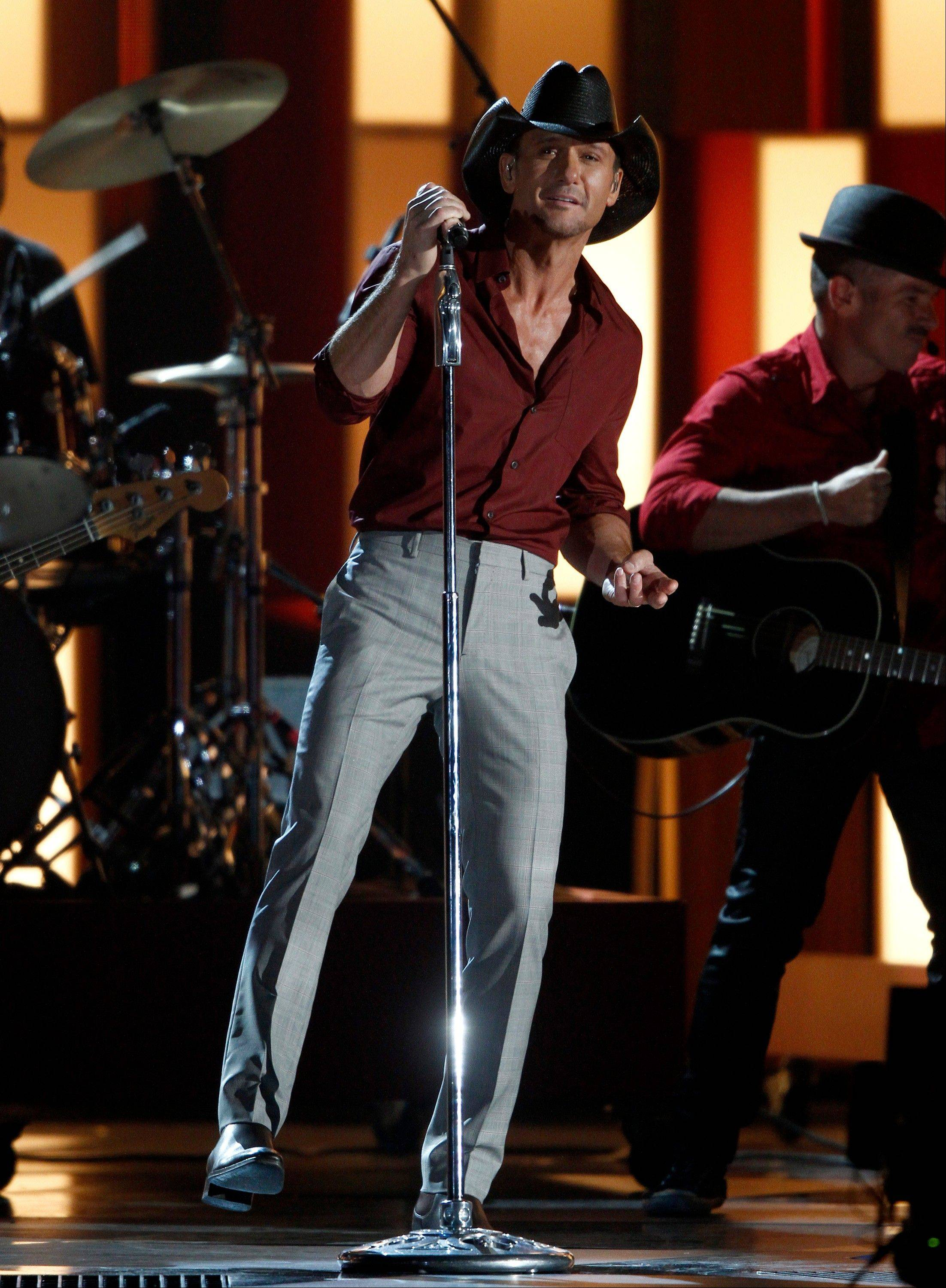 Tim McGraw performs.
