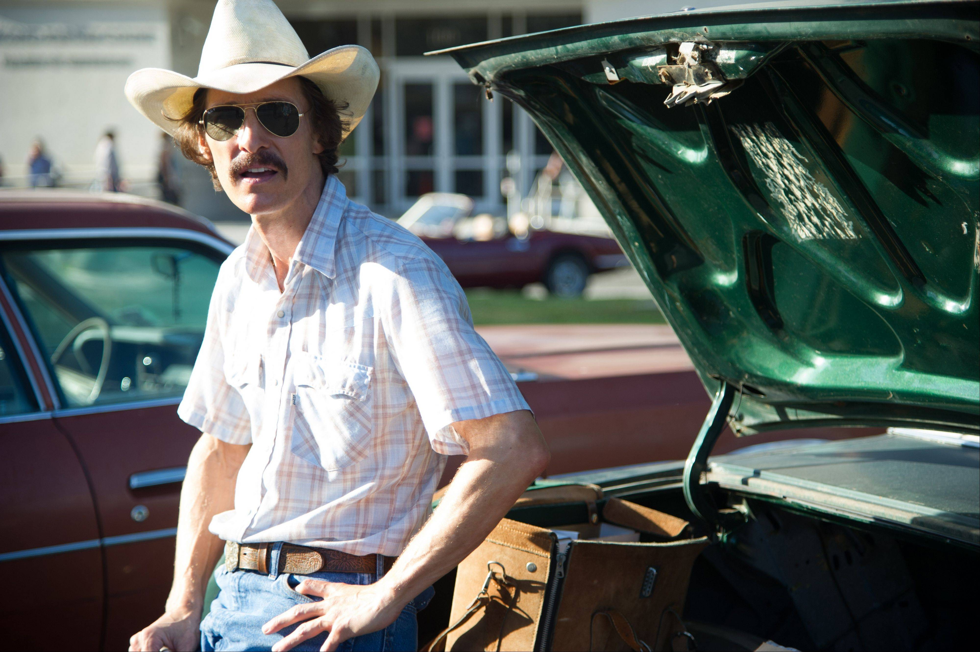 "In ""Dallas Buyers Club,"" the daring Matthew McConaughey plays true-life character Ron Woodroof, who turned his search for an AIDS cure into a capitalistic enterprise."