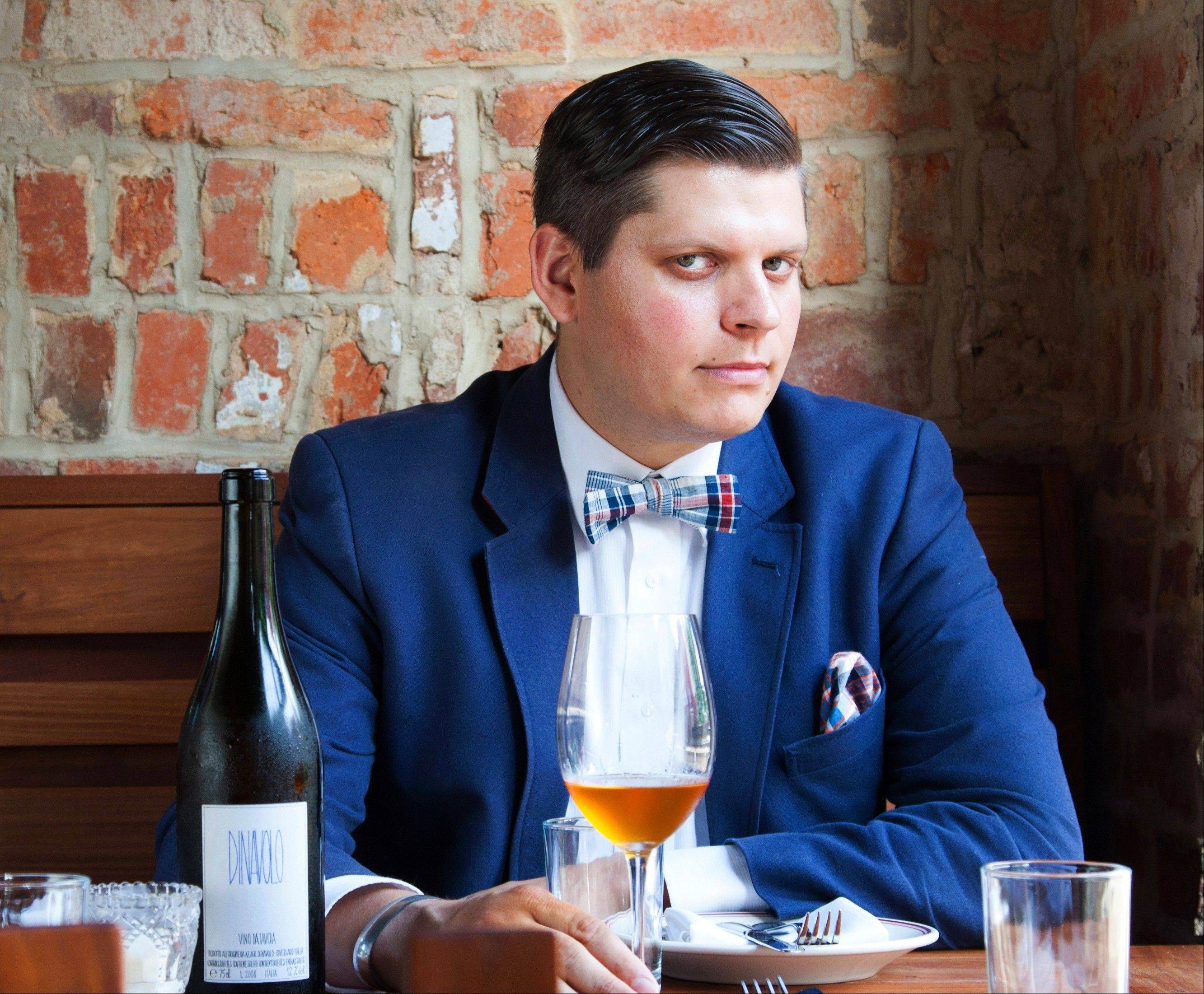 "Co-owner and wine manager Sebastian Zutant offers orange wine at the Red Hen in Washington, D.C. ""These wines were built for food,"" he says."