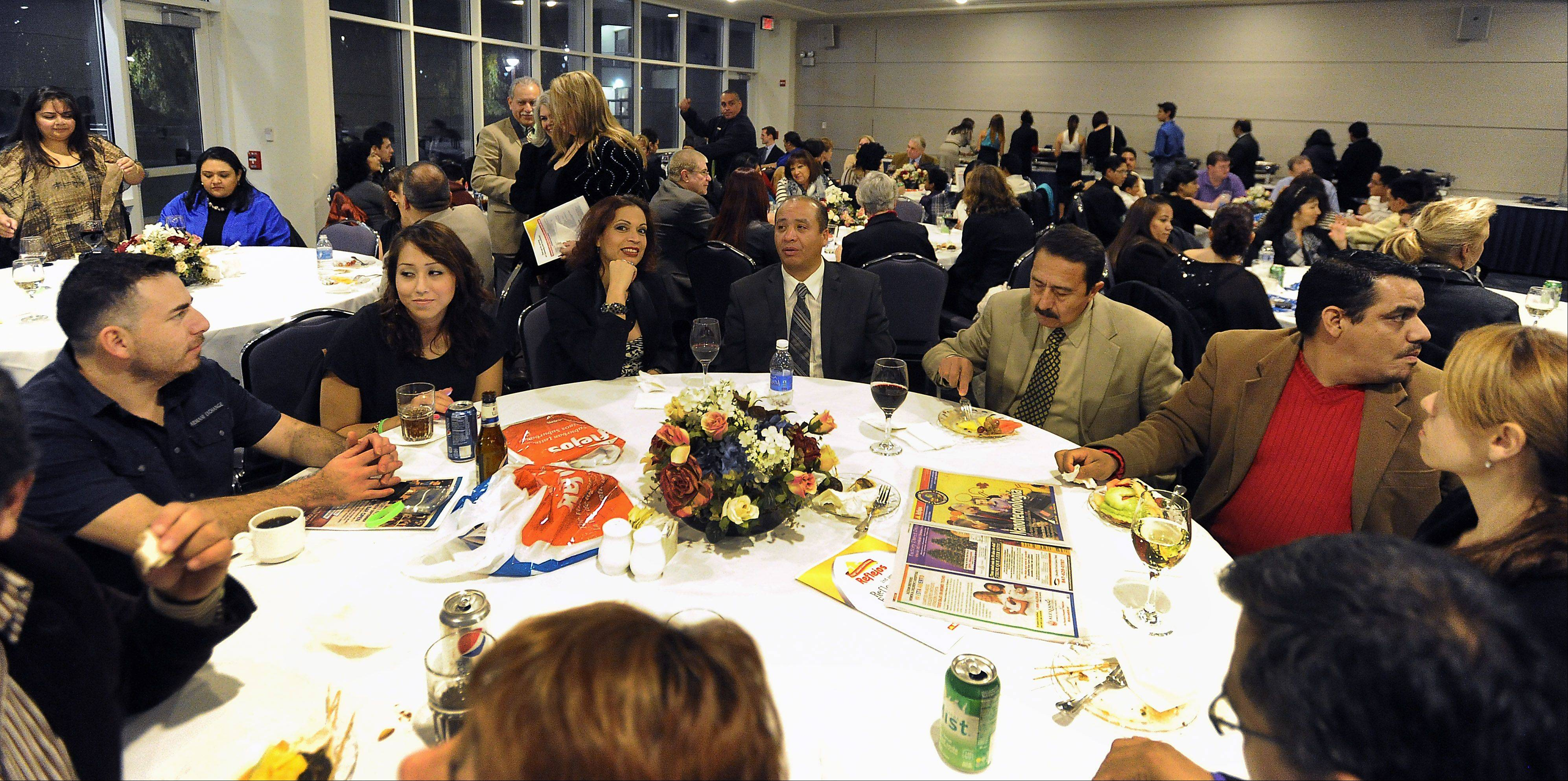 People who serve the Latino community were honored at the Daily Herald Reflejos Reflecting Excellence Awards event at Harper College on Thursday.