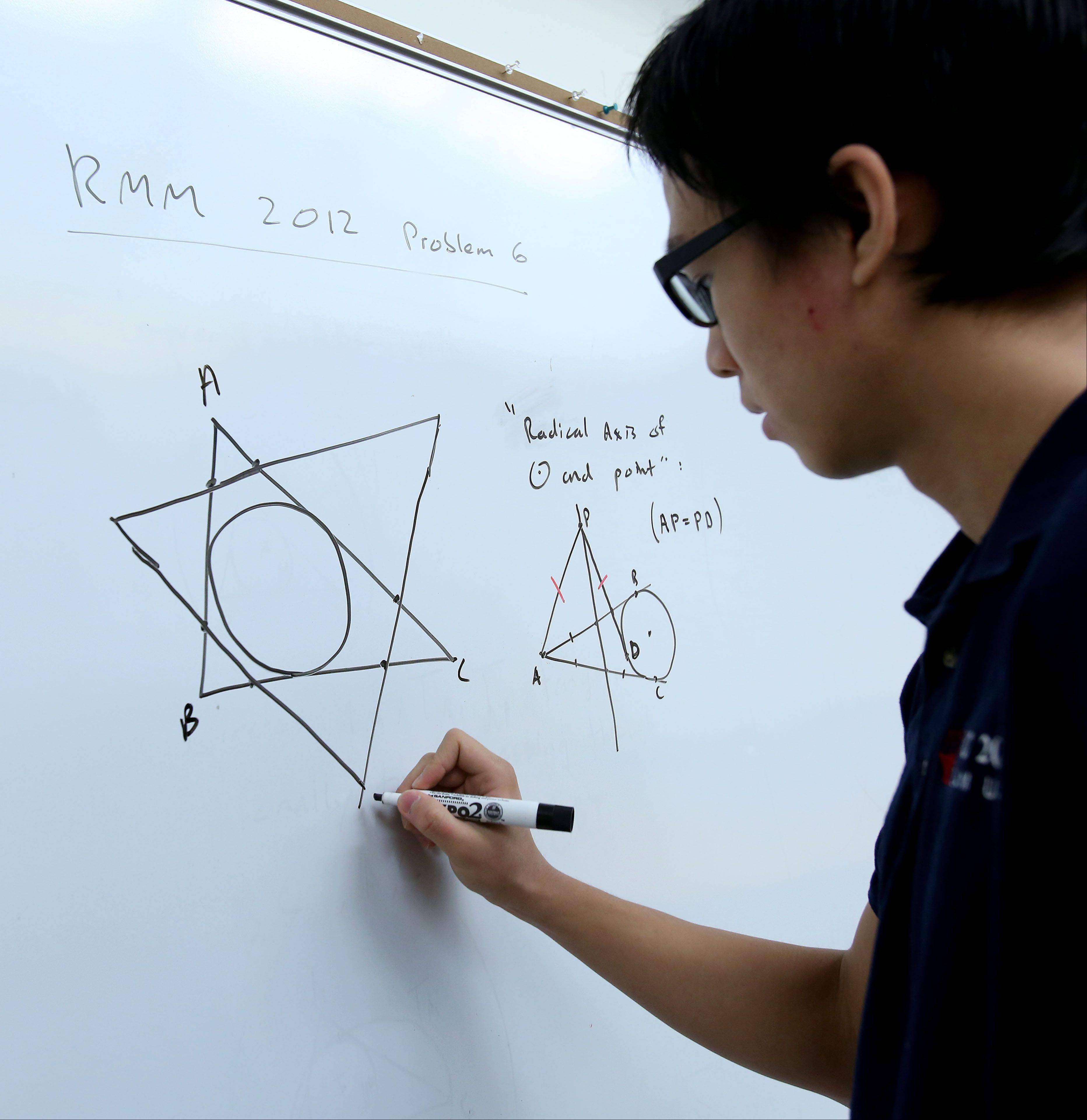 Math is all about creativity, says James Tao, a senior at the Illinois Mathematics and Science Academy. James, 17, of Hoffman Estates, is the most advanced geometry student that math teacher Michael Keyton has taught in 48 years, 12 of them at the prestigious Aurora school.