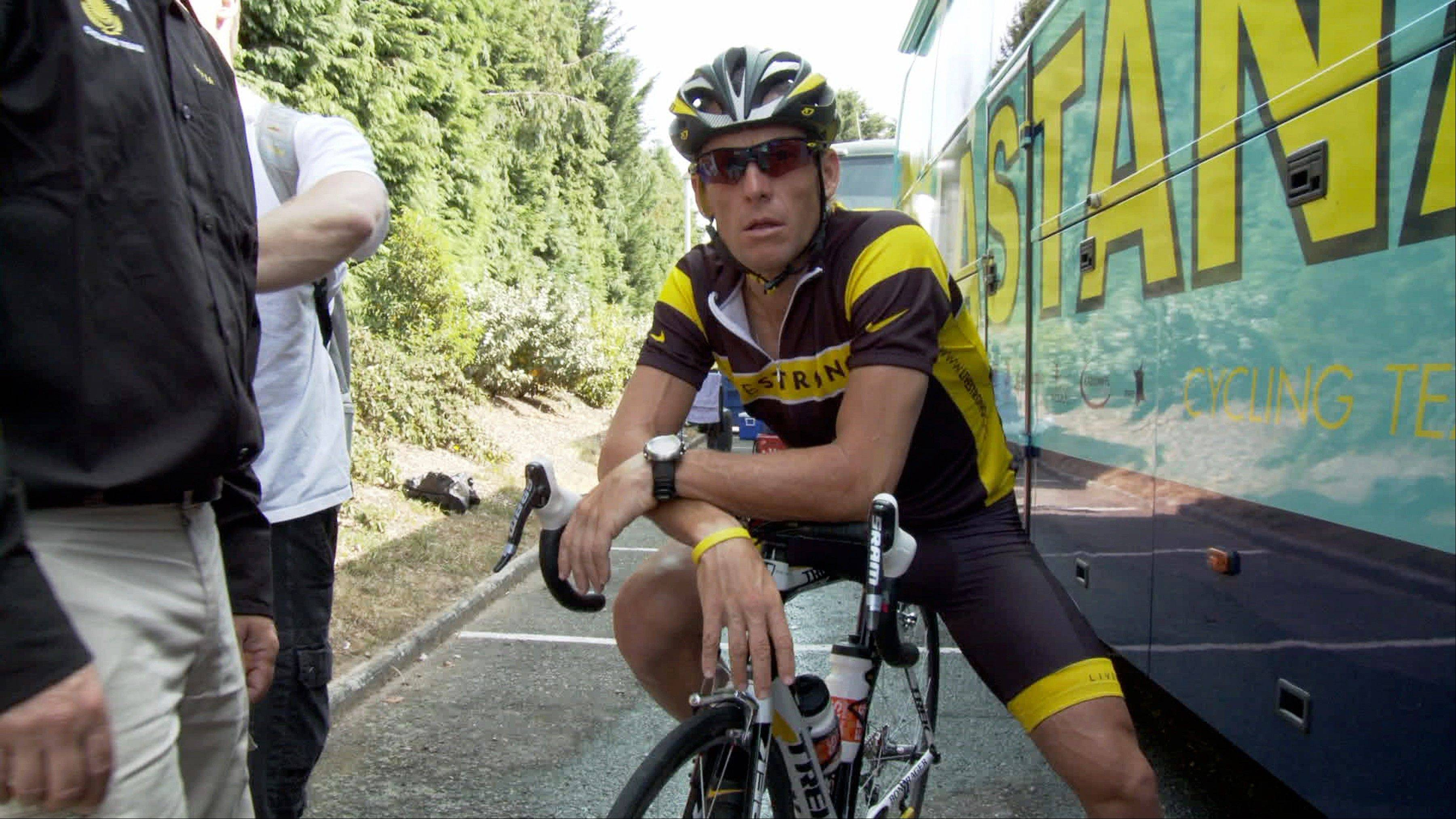 "Lance Armstrong in the documentary film ""The Armstrong Lie."""