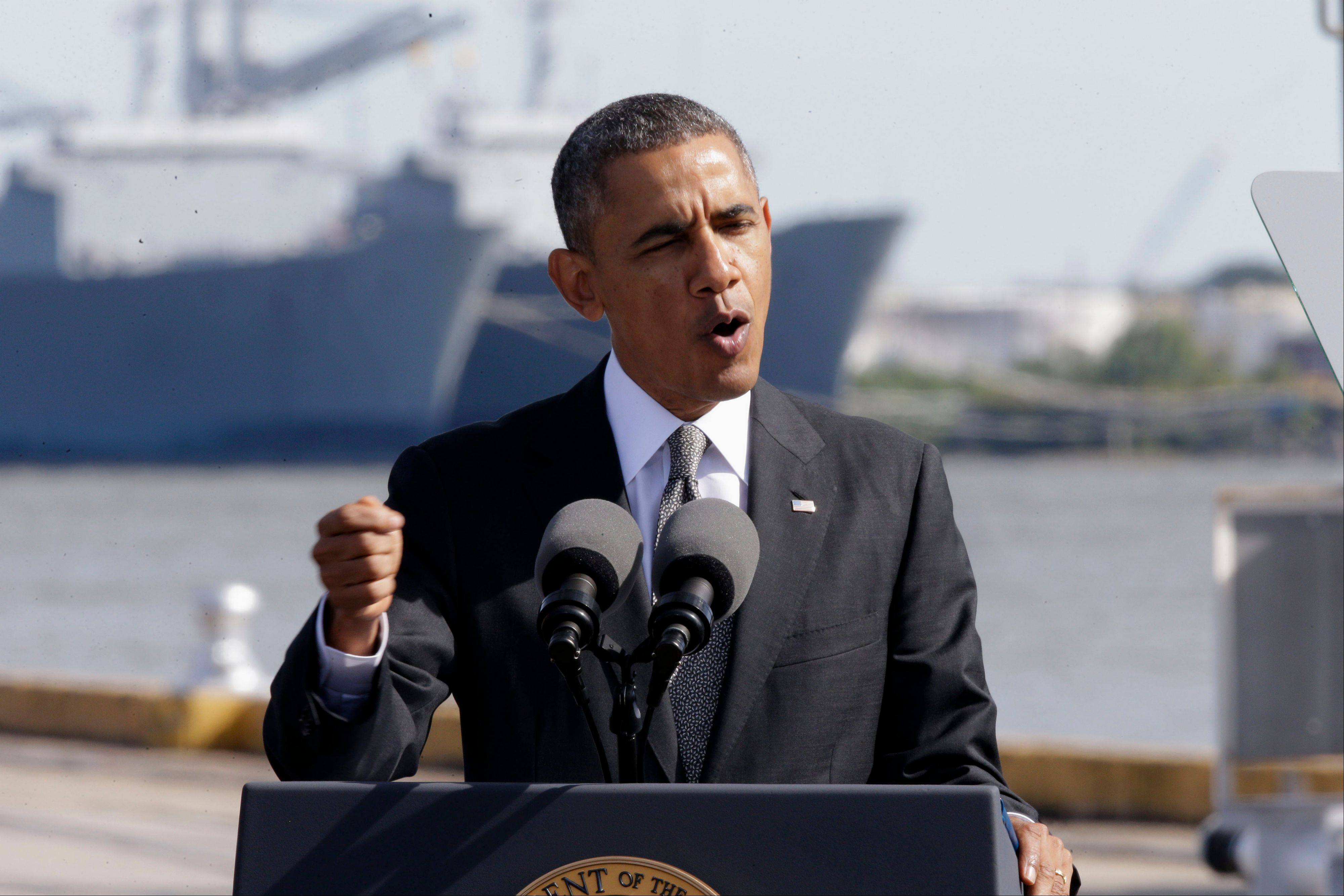 President Barack Obama speaks Friday about the economy at the Port of New Orleans. The president says he'll do everything he can to help people coping with health insurance cancellations, but legally and practically his options appear limited.