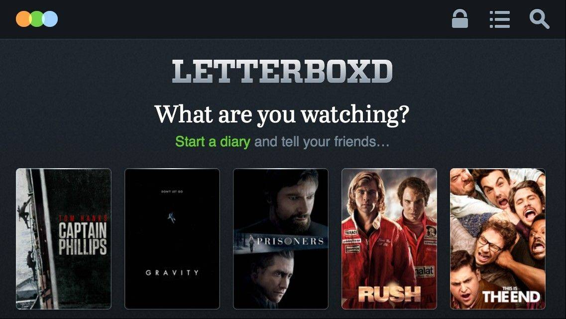 Letterboxd.com allows moviegoers to keep an online diary of every film they see.
