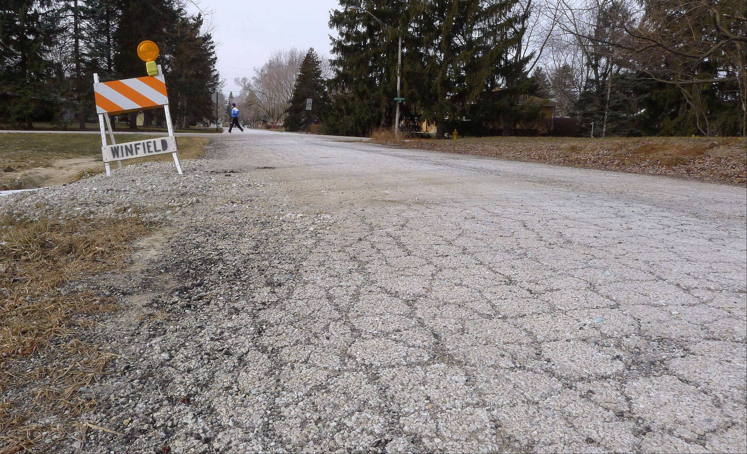 Winfield trustees are considering a plan to borrow $4 million to repair nearly 30 percent of the village's streets, which officials say are in poor to failing condition.