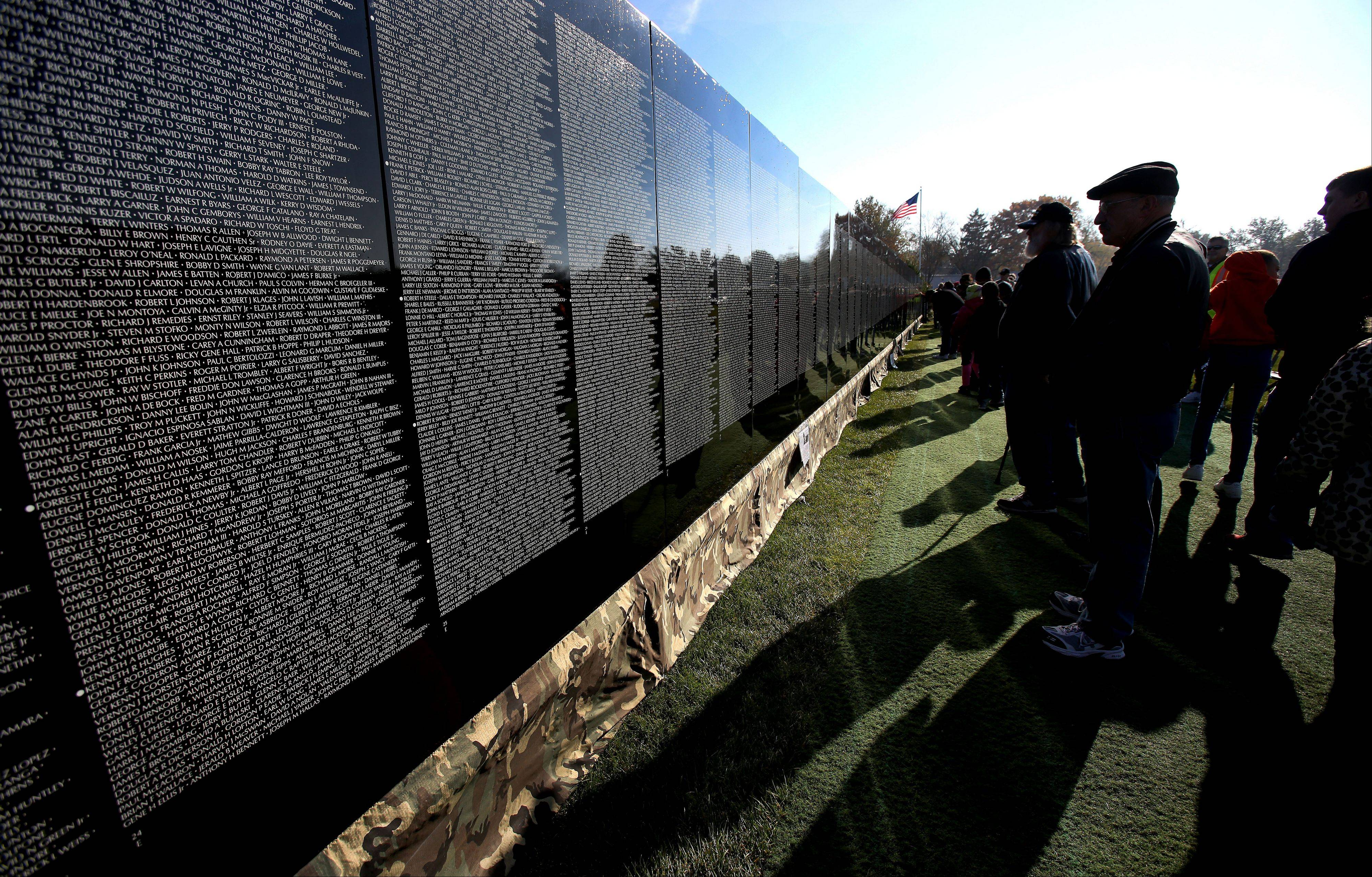 More than 300,000 visitors are expected to view The Moving Wall at West Aurora High School, where it will be on display through Monday.