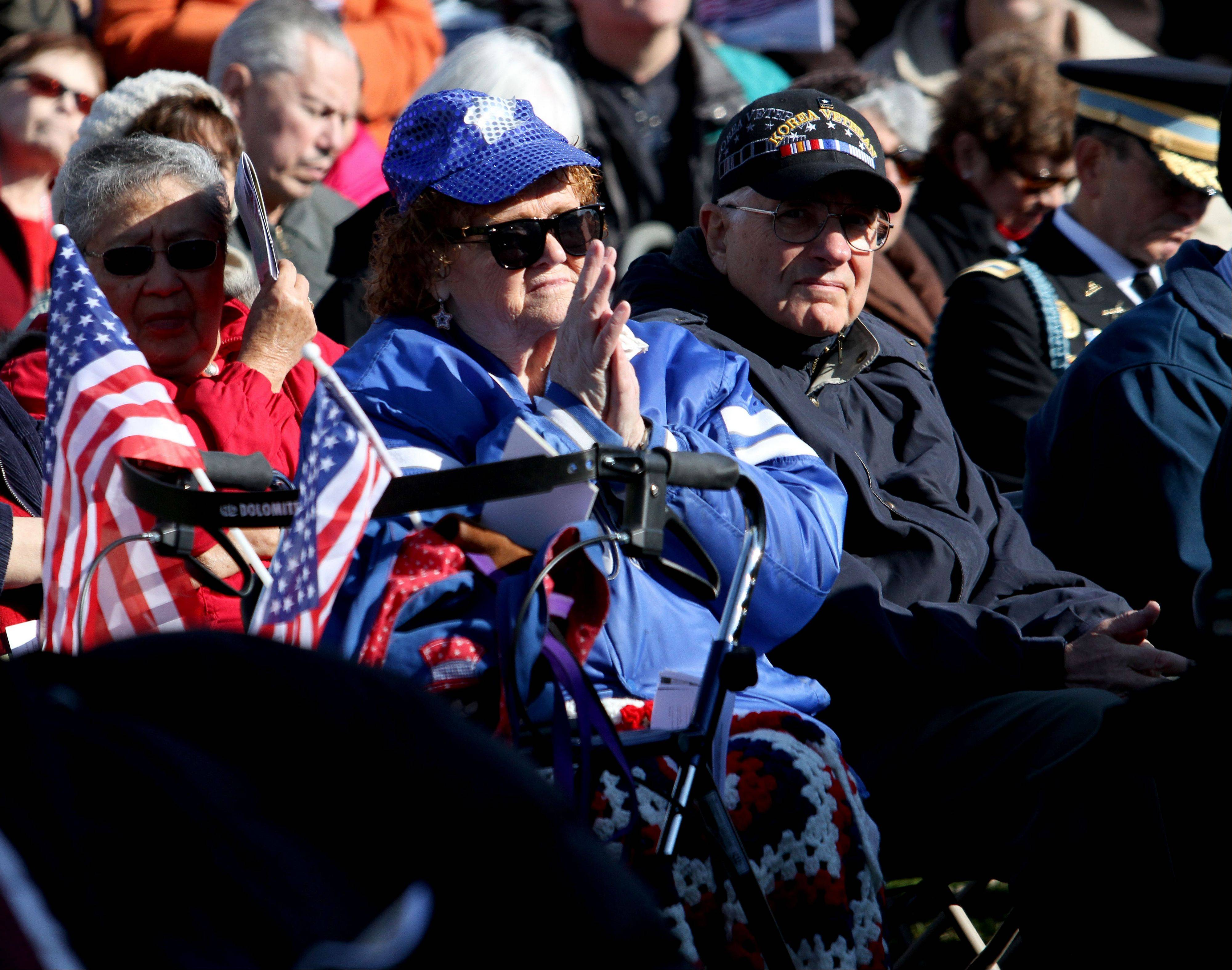 Judith Brown, who served in the Air Force from 1957 to 1960, said she wept through Friday's entire program.