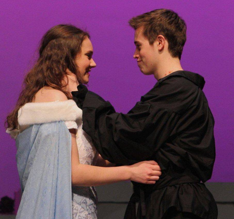 "Anka Nims plays Buttercup and Zane Shaw plays Westley in ""The Princess Bride"" at Geneva High School."