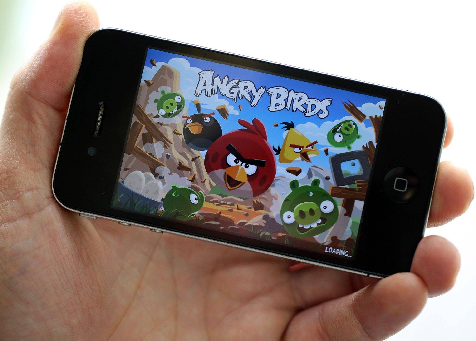 The ''Angry Birds'' mobile-phone game, designed by Rovio Mobile, on an Apple iPhone 4. A tablet computer developed by North Korea features the popular game, but the developers of the internationally popular app say they have nothing to do with it.