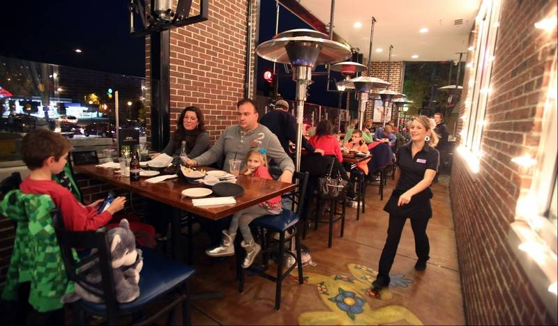 Heat Lamps Keep The Outdoor Patio At Libertyville S Casa Bonita Mexican Restaurant And Tequila Bar Busy