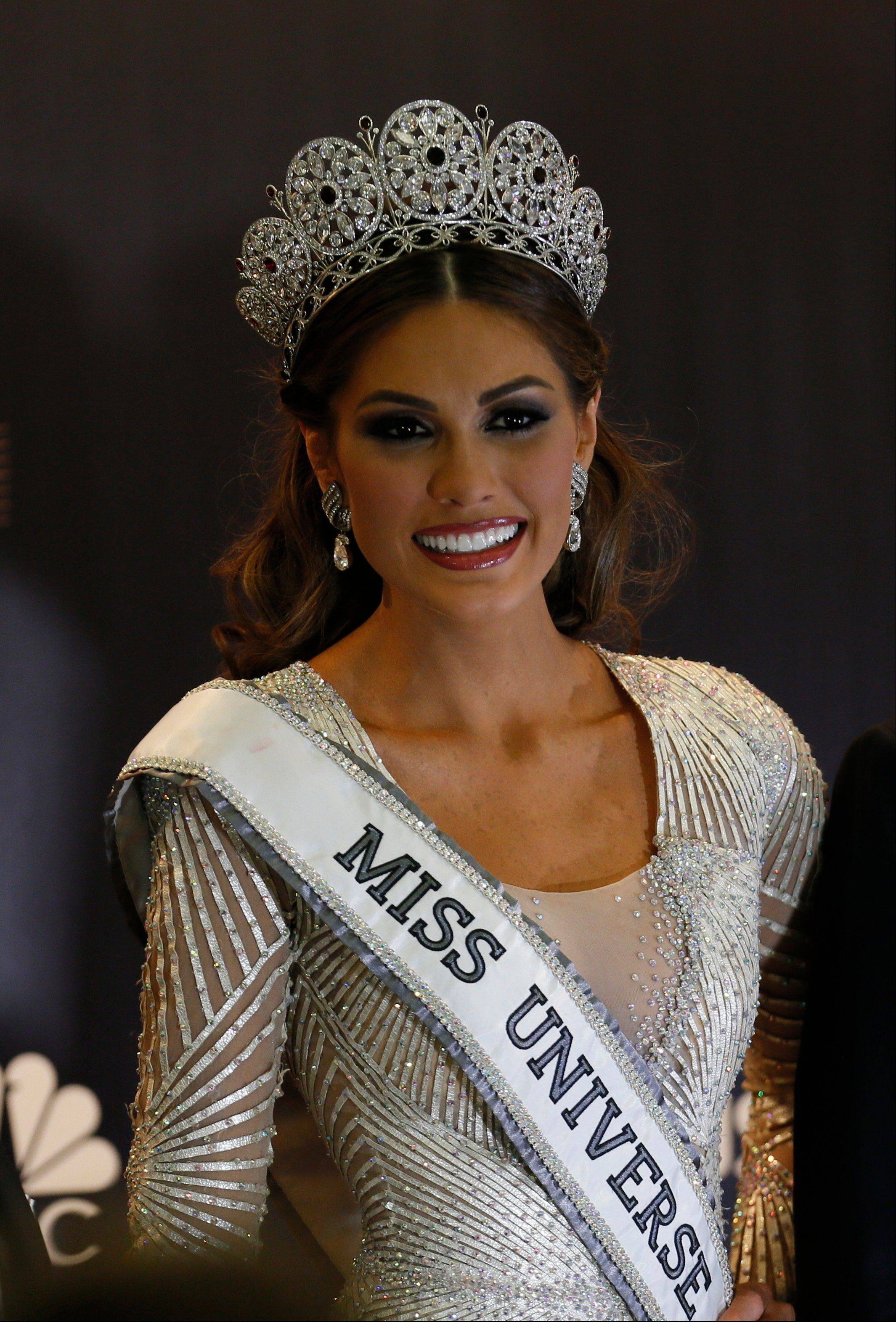 Miss Universe 2013 Gabriela Isler from Venezuela smiles during the media conference Sunday after winning the 2013 Miss Universe pageant in Moscow, Russia.