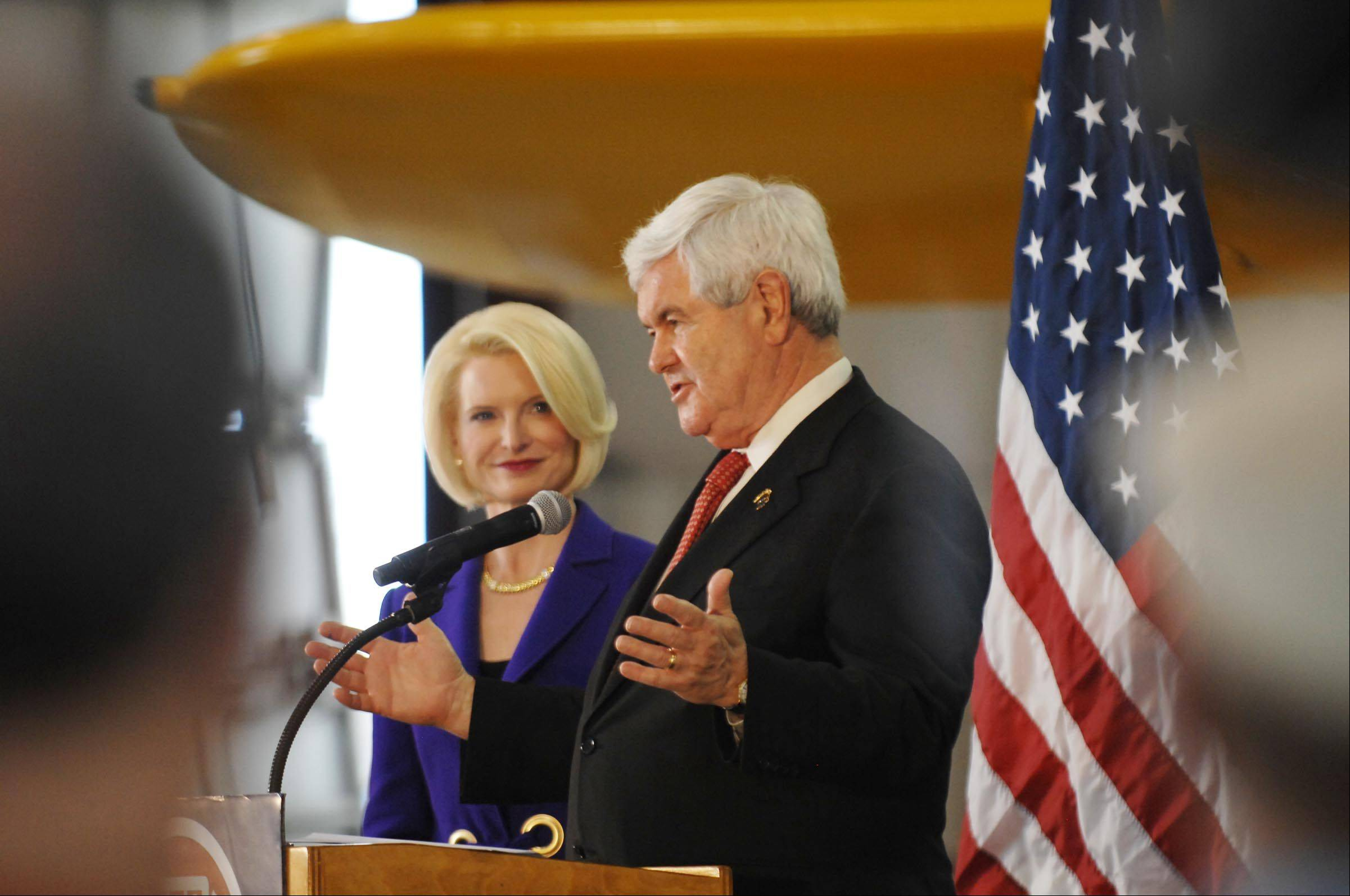 Newt Gingrich and his wife, Callista, will be signing copies of their books at Anderson's Bookshop in Downers Grove.