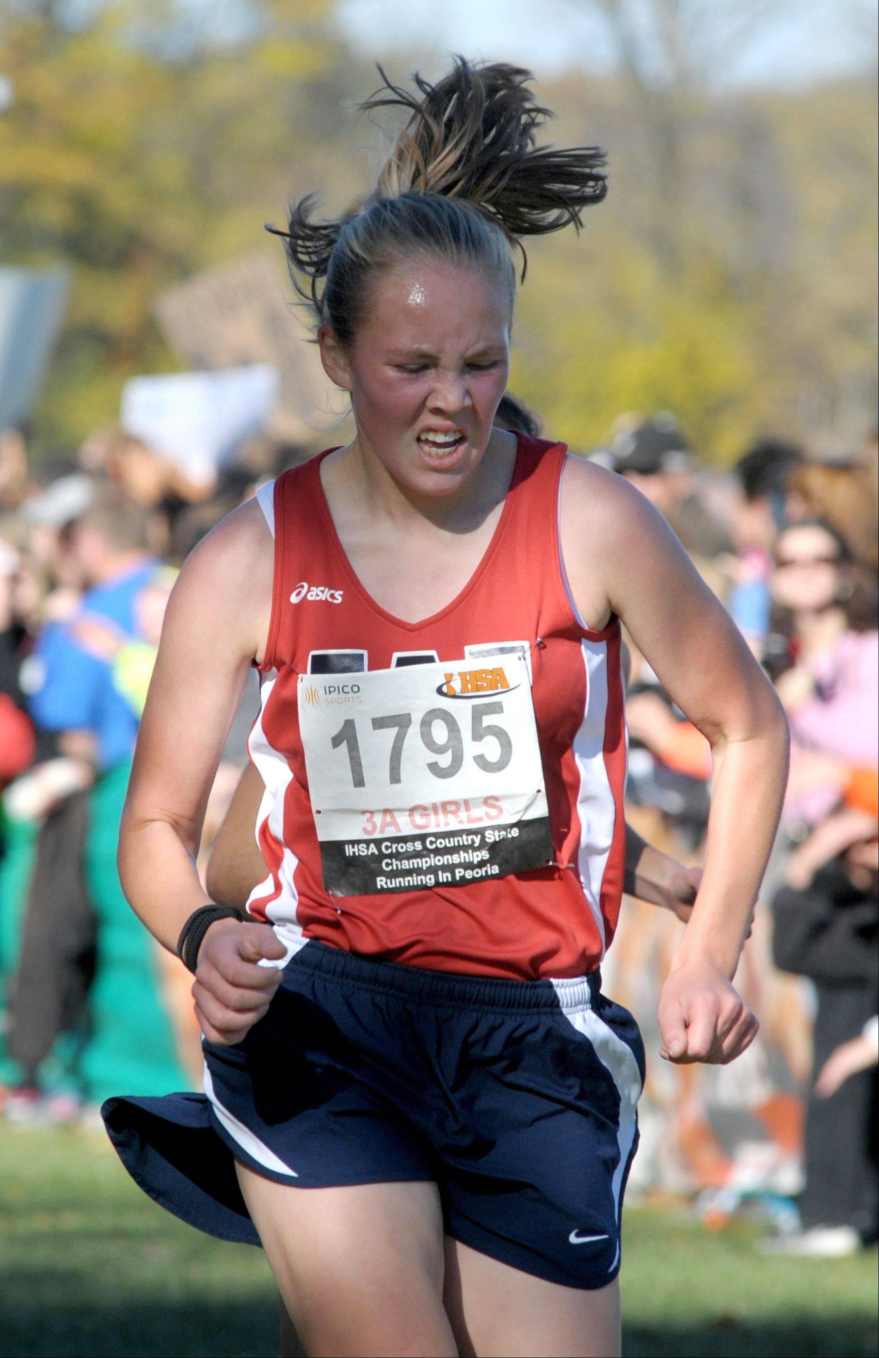 West Aurora's Taylor Truckenbrod takes 82nd place in the Class 3A IHSA cross country state finals at Detweiller Park in Peoria on Saturday, November 9.