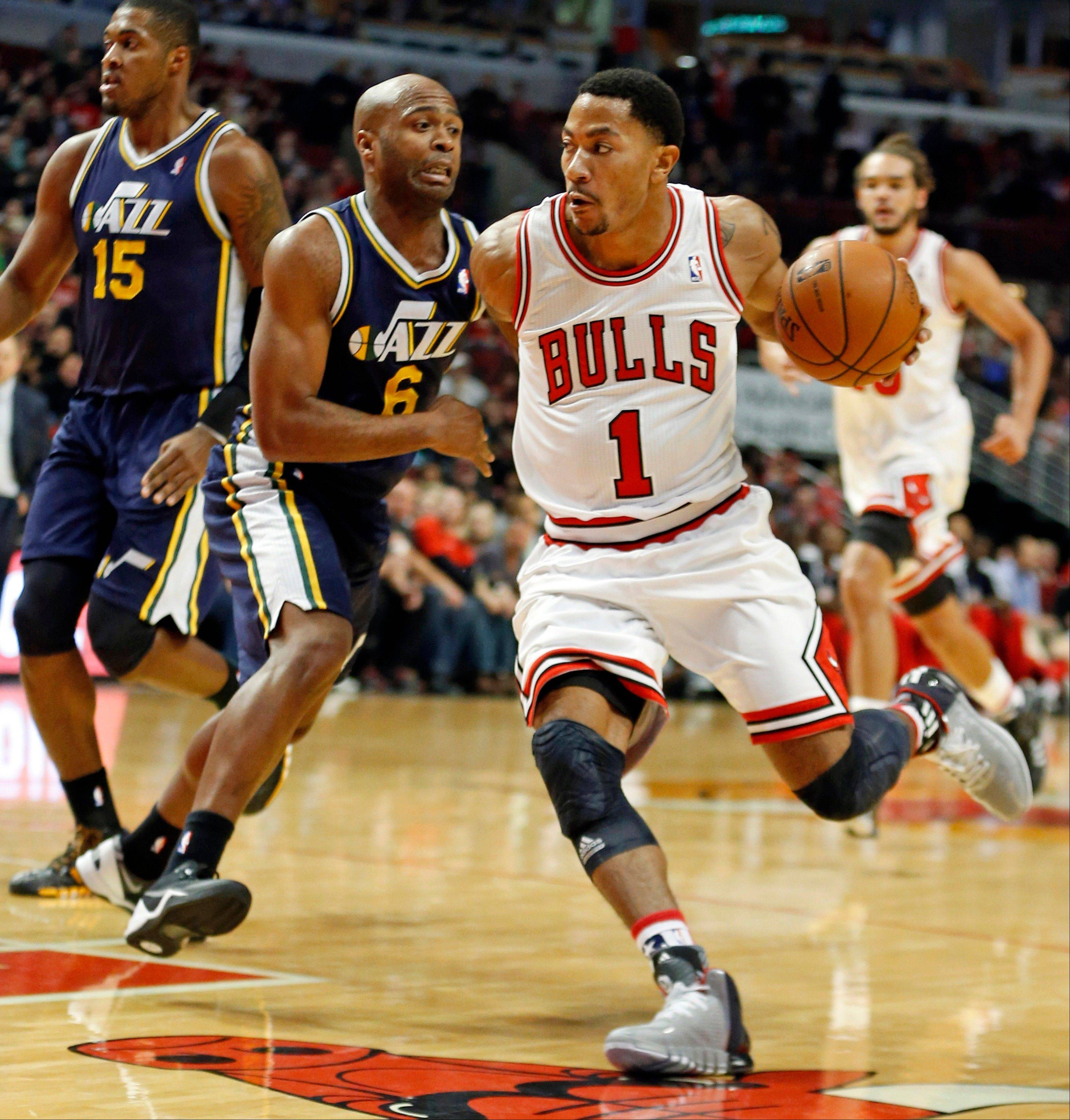 The Bulls' Derrick Rose leads the NBA with 5 turnovers per game.