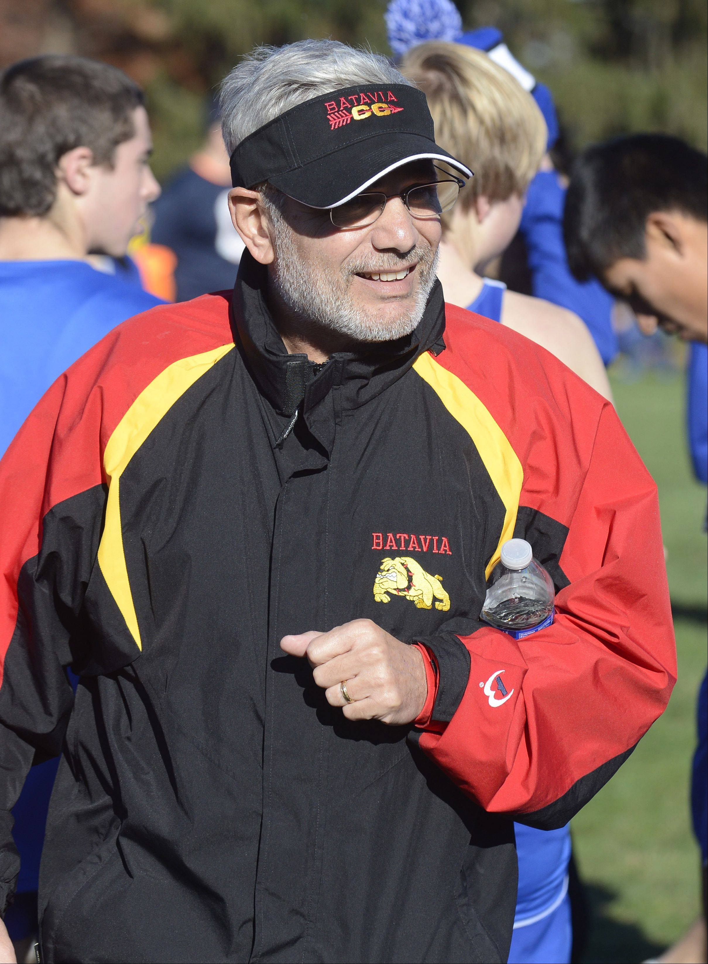 Batavia coach Mike DiDomenico is retiring after 34 years of coaching. He brought the Bulldogs to the state meet for the first time in the school's history on Saturday, November 9.
