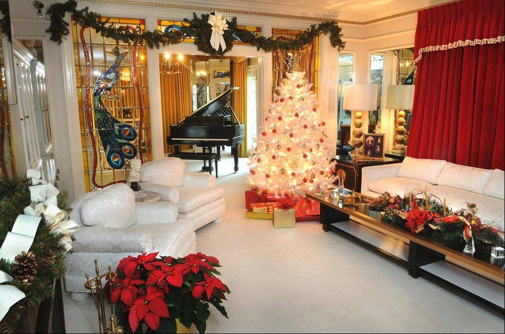 "Rooms inside Graceland, the Memphis home of Elvis Presley, are decorated just as they were when ""The King"" lived there."