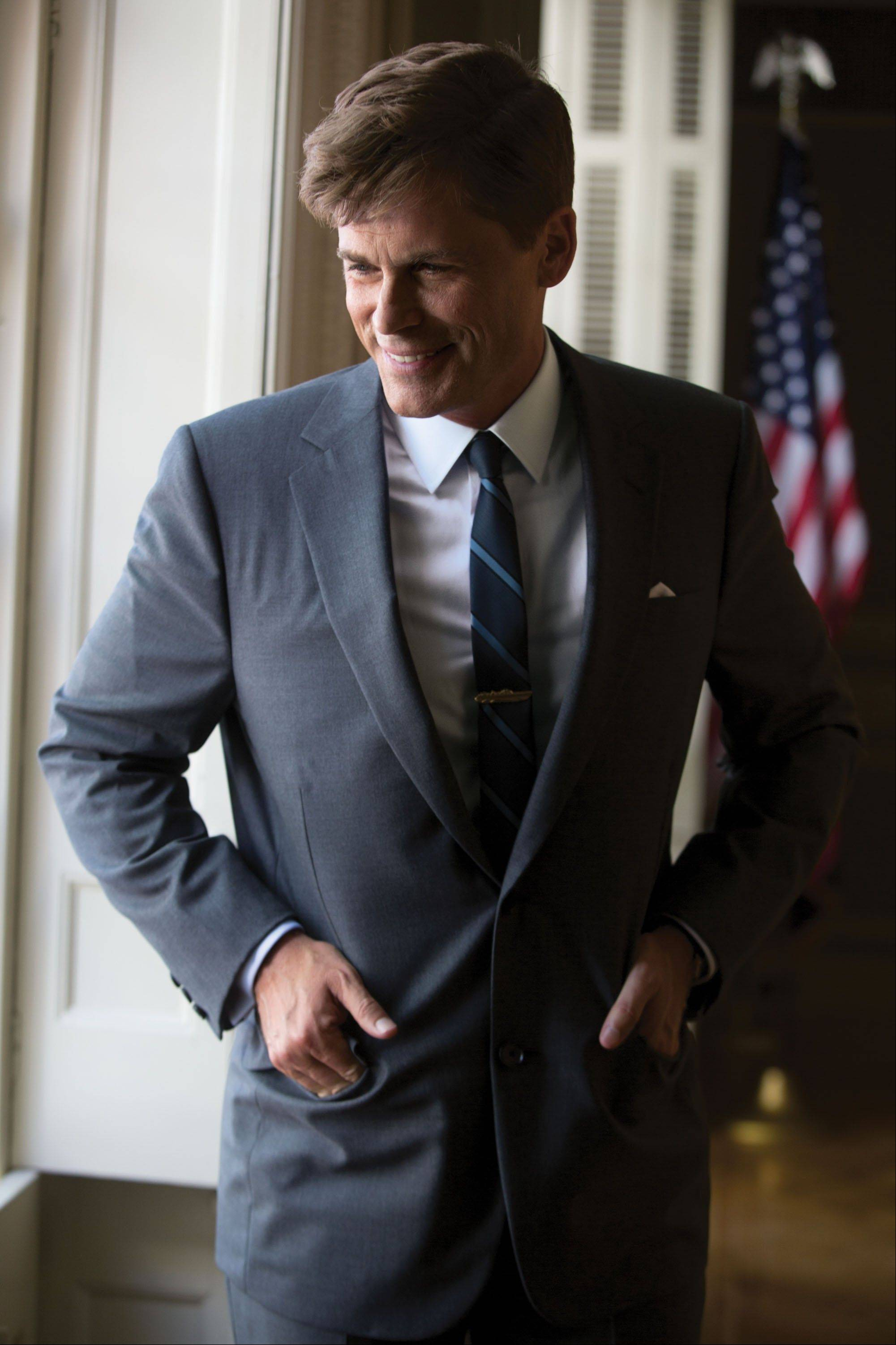 Rob Lowe portrays President John F. Kennedy in �Killing Kennedy,� which airs at 7 p.m. Sunday, Nov. 10, on National Geographic Channel.