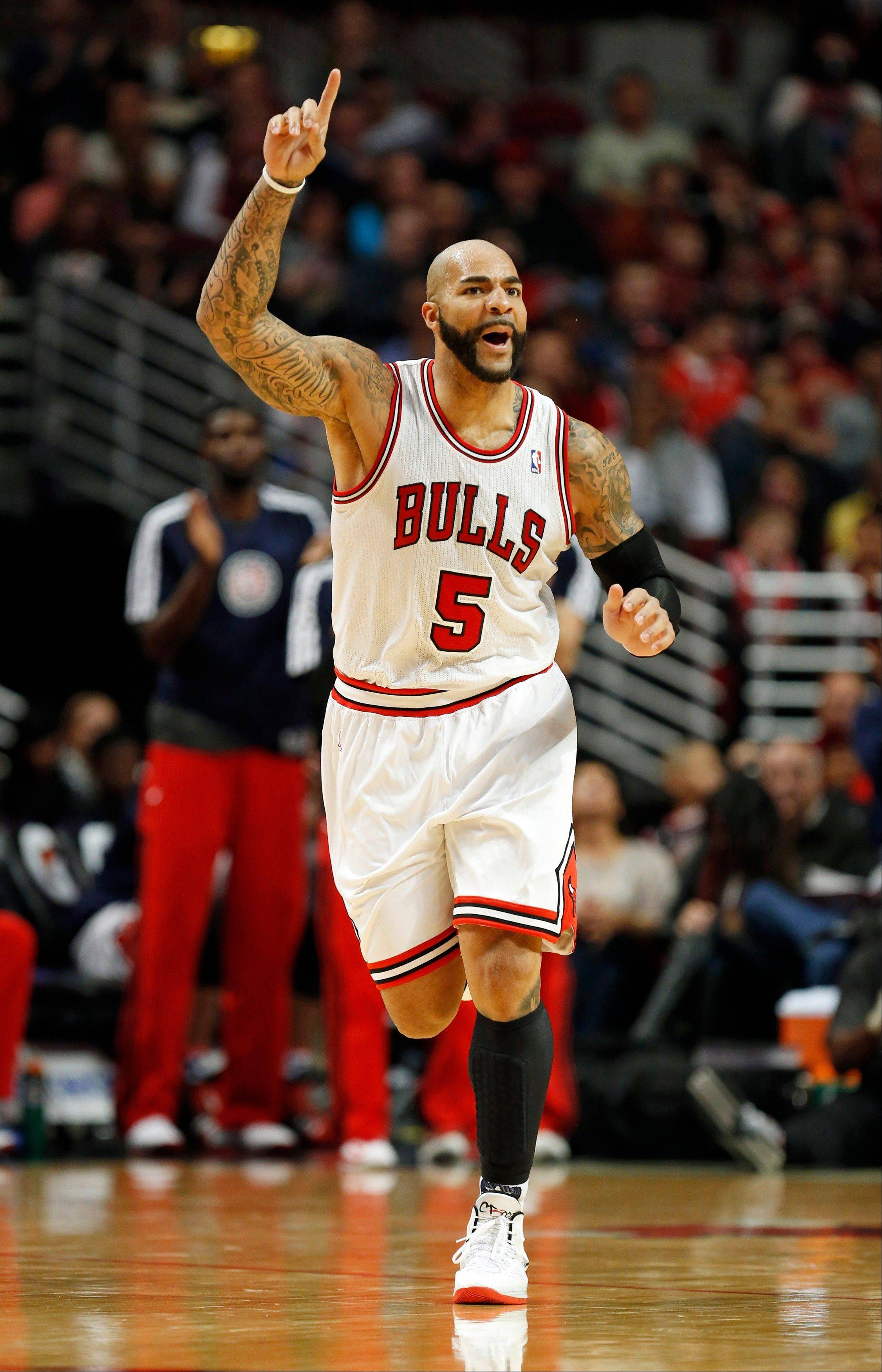 Carlos Boozer is averaging a team-high 18.2 points per game and is shooting .597 from the field.