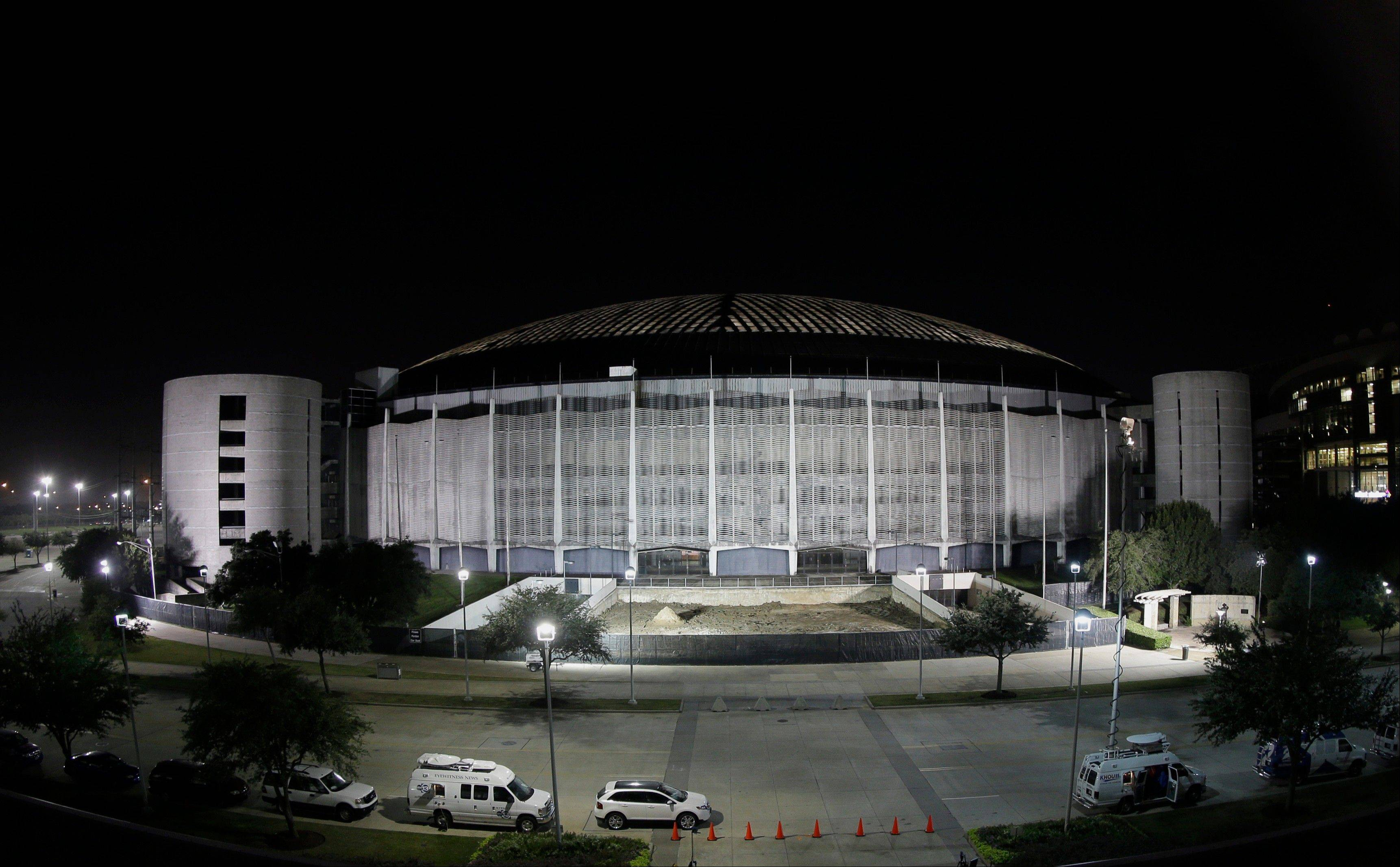 The Houston Astrodome is illuminated, in Houston. Voters rejected what county officials had touted as the only way to save the prized dome from demolition. Still, this might not be the dome's last inning.