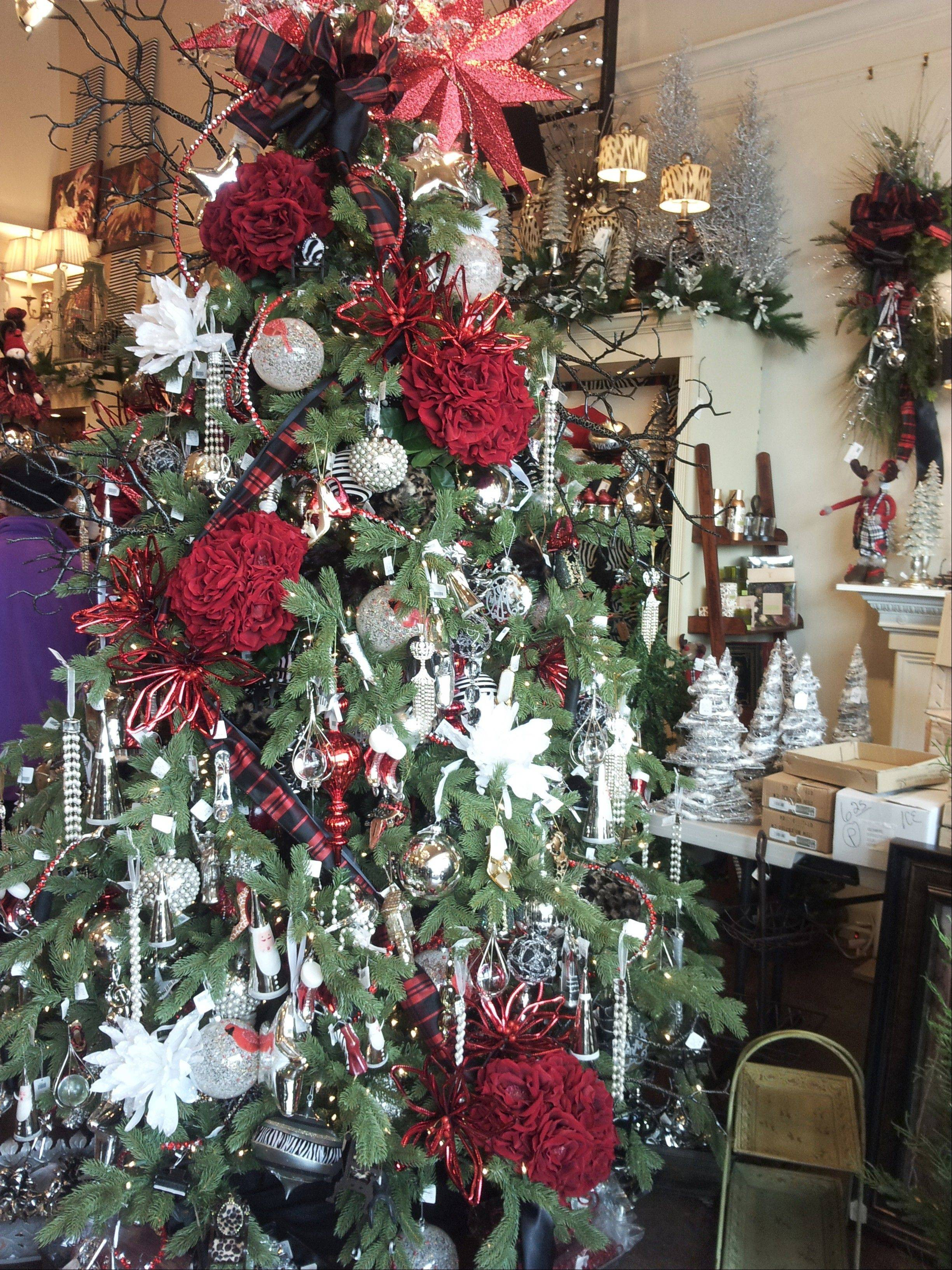 Silk 'N Things in Deer Park Town Center is offering holiday items in three major themes this year, including Forest Frost, which includes owls, snowflakes, icicles, snow houses, deer -- all with crystal glitz.