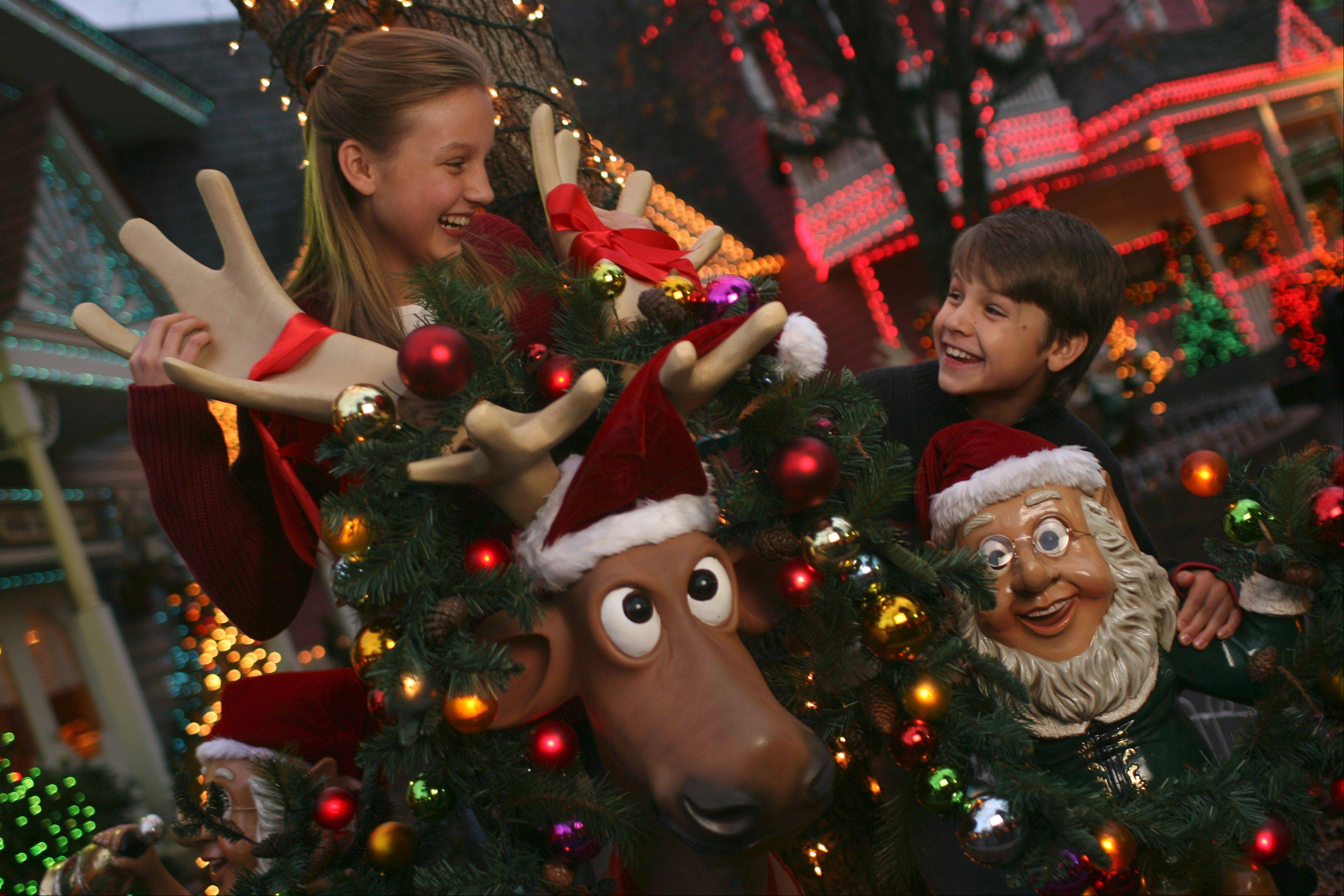 Kids get into the holiday spirit during the Smoky Mountain Christmas festival at Dollywood in Pigeon Forge, Tenn.