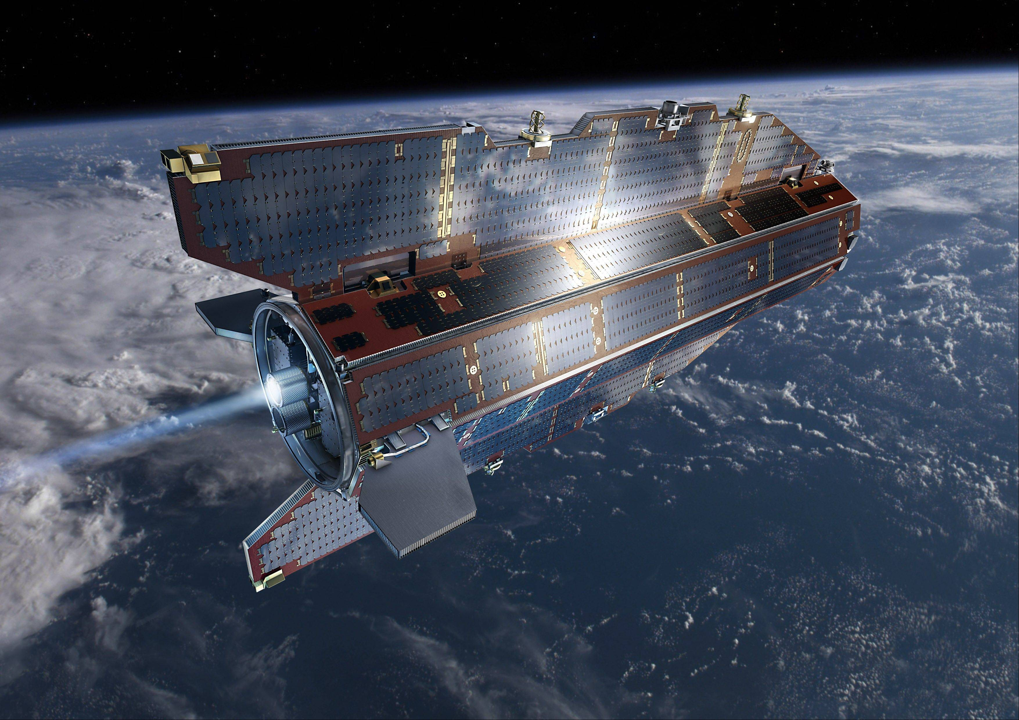 ASSOCIATED PRESS/European Space AgencyThe European Space Agency research satellite GOCE ran out of fuel while in orbit and is likely to re-enter the Earth's atmosphere today. Where and when -- and how much of it will hit the Earth's surface -- is largely guesswork.