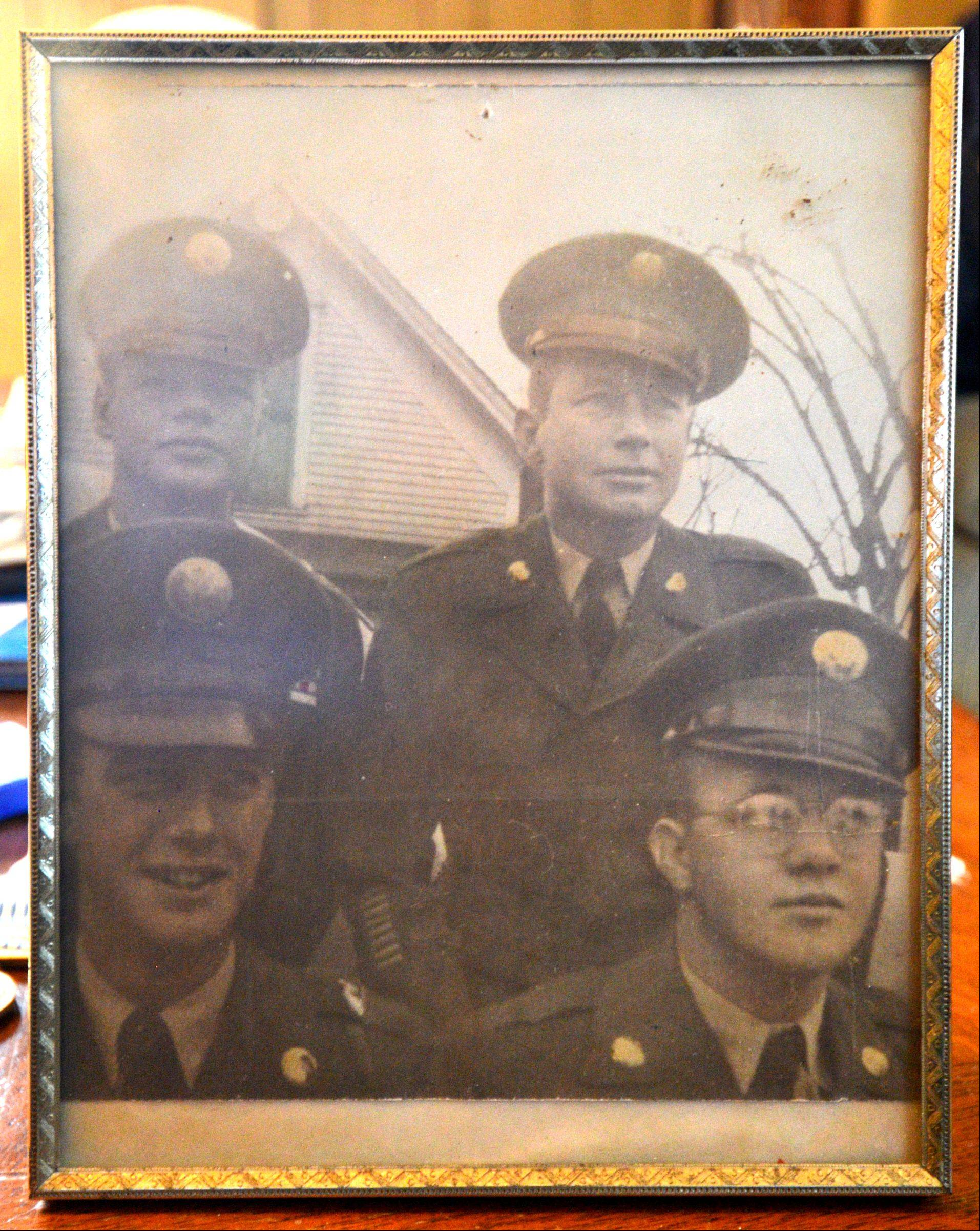 Realizing now how worried his poor mother must have been, Virgil Banker, lower right, says he and his three brothers all fought in the Korean War and returned home.