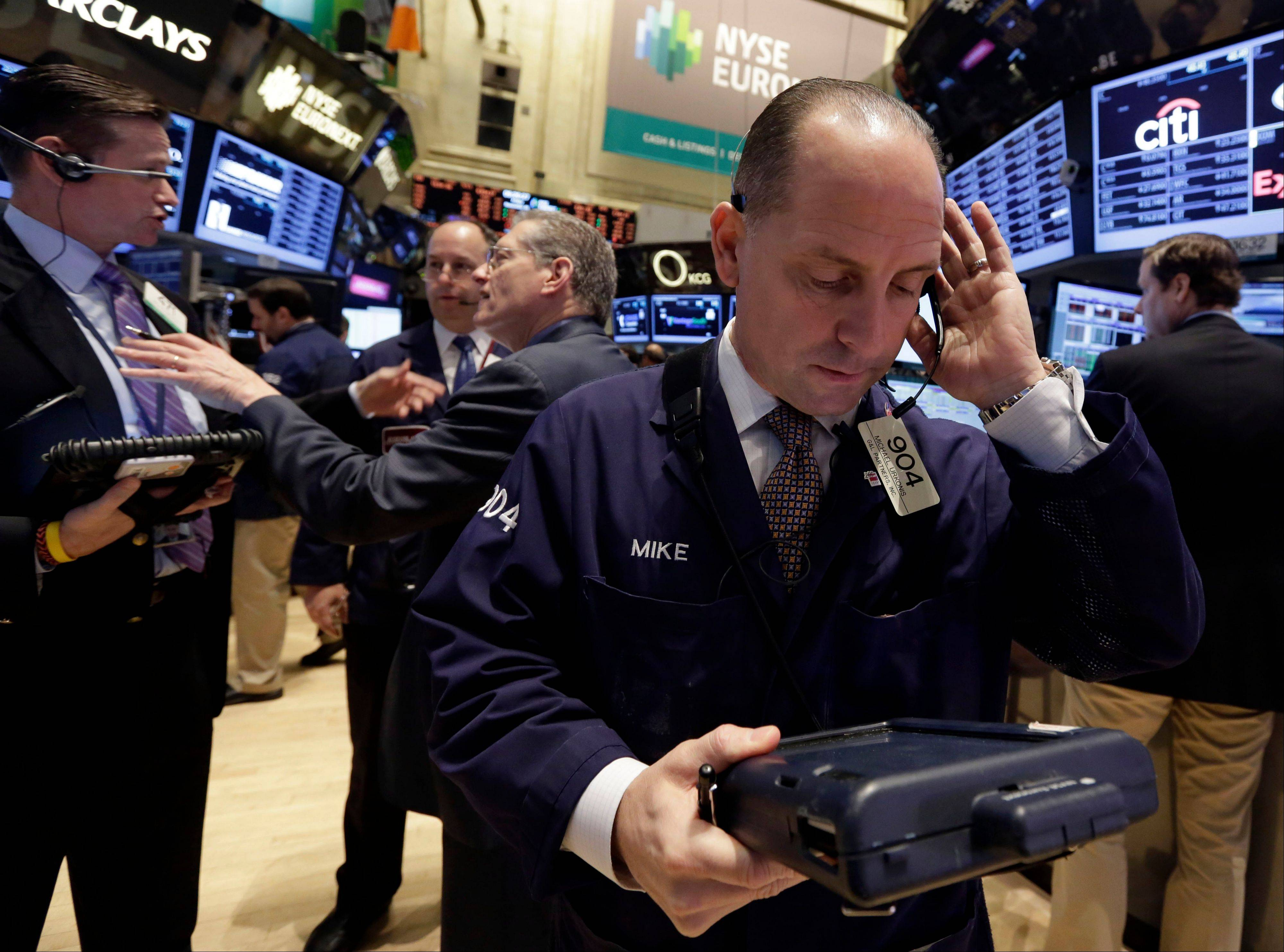 U.S. stocks rose Monday, with the Dow Jones Industrial Average extending a record, as investors awaited retailer earnings reports to gauge the strength of consumer demand and the likelihood of cuts to monetary stimulus.