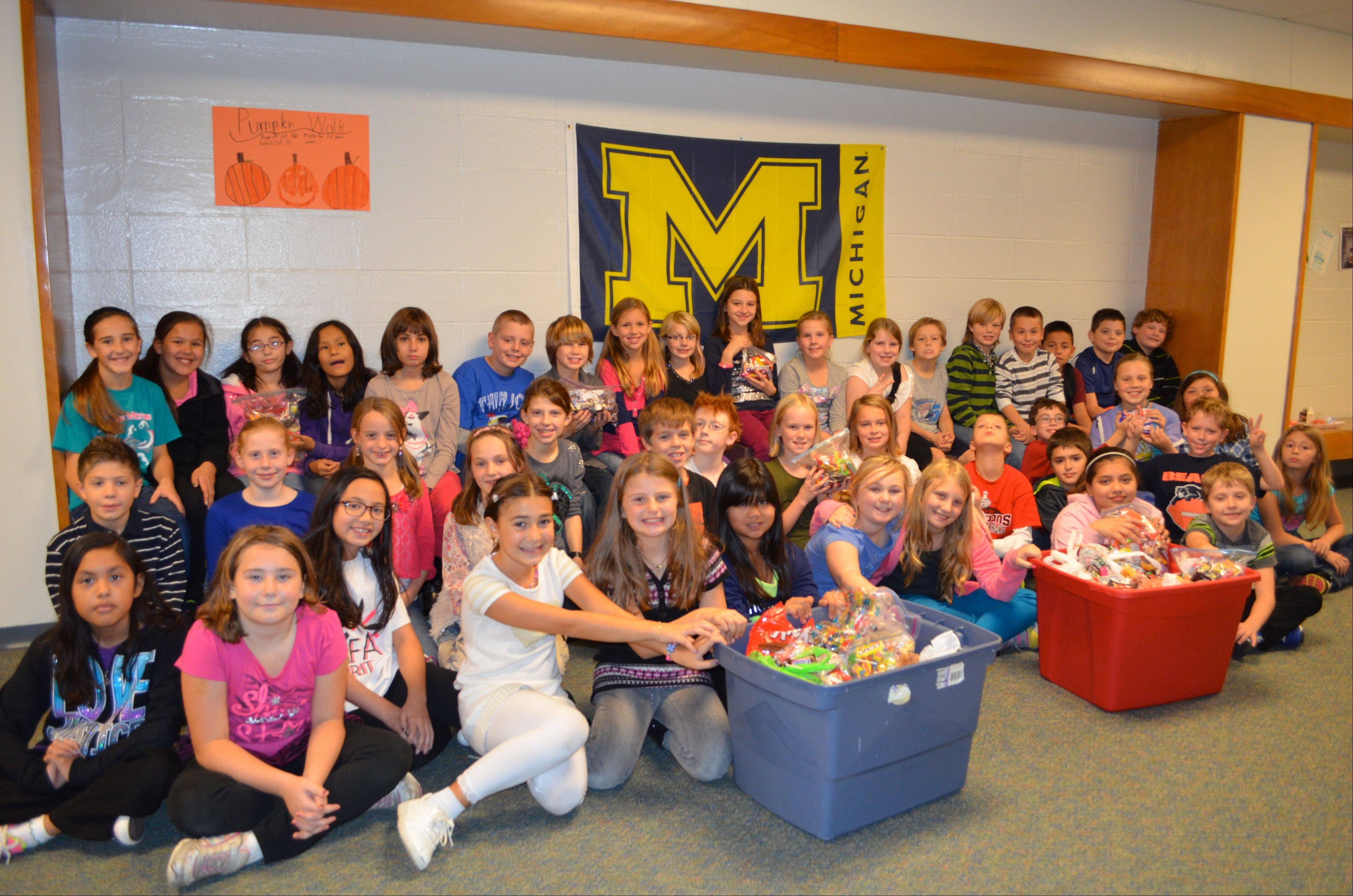 The most recent effort of the Winston Campus Elementary Make A Difference Club is to gather leftover Halloween candy and redirect it to those serving our country.