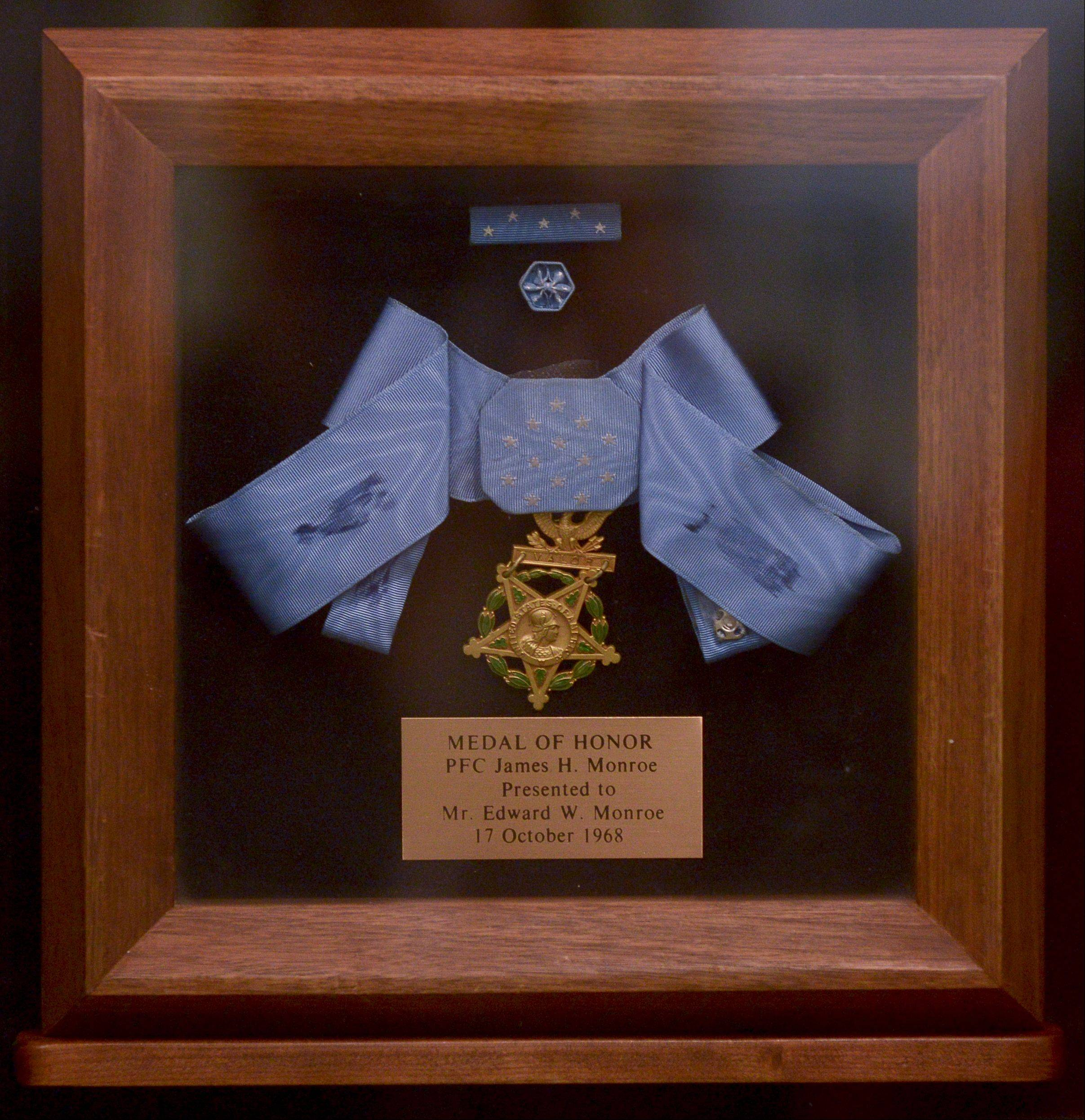 The Medal of Honor presented to Wheaton's James Howard Monroe, who died in Vietnam while saving the lives of two fellow soldiers.