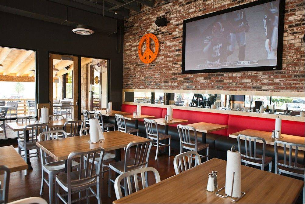 The former Cheeseburger in Paradise restaurant in Algonquin Commons is being renovated into a Fuddruckers. The restaurant will be a showcase of Fuddruckers' new interior scheme, according to company officials. Shown is the interior of a Fuddruckers in Houston, Texas.