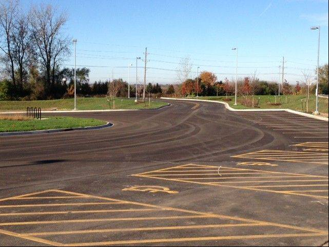 A new park-and-ride in Lake in the Hills is the first in McHenry County.
