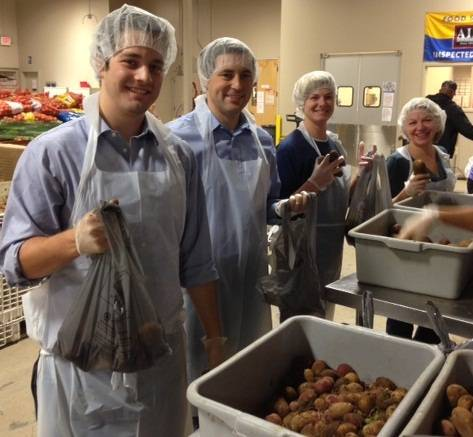 Pictured above are Accretive Helping Hands volunteers (from left to right): Ryan Cagney, Matt MacDonald, Meredith Freeman and Mary Ellen Turk.