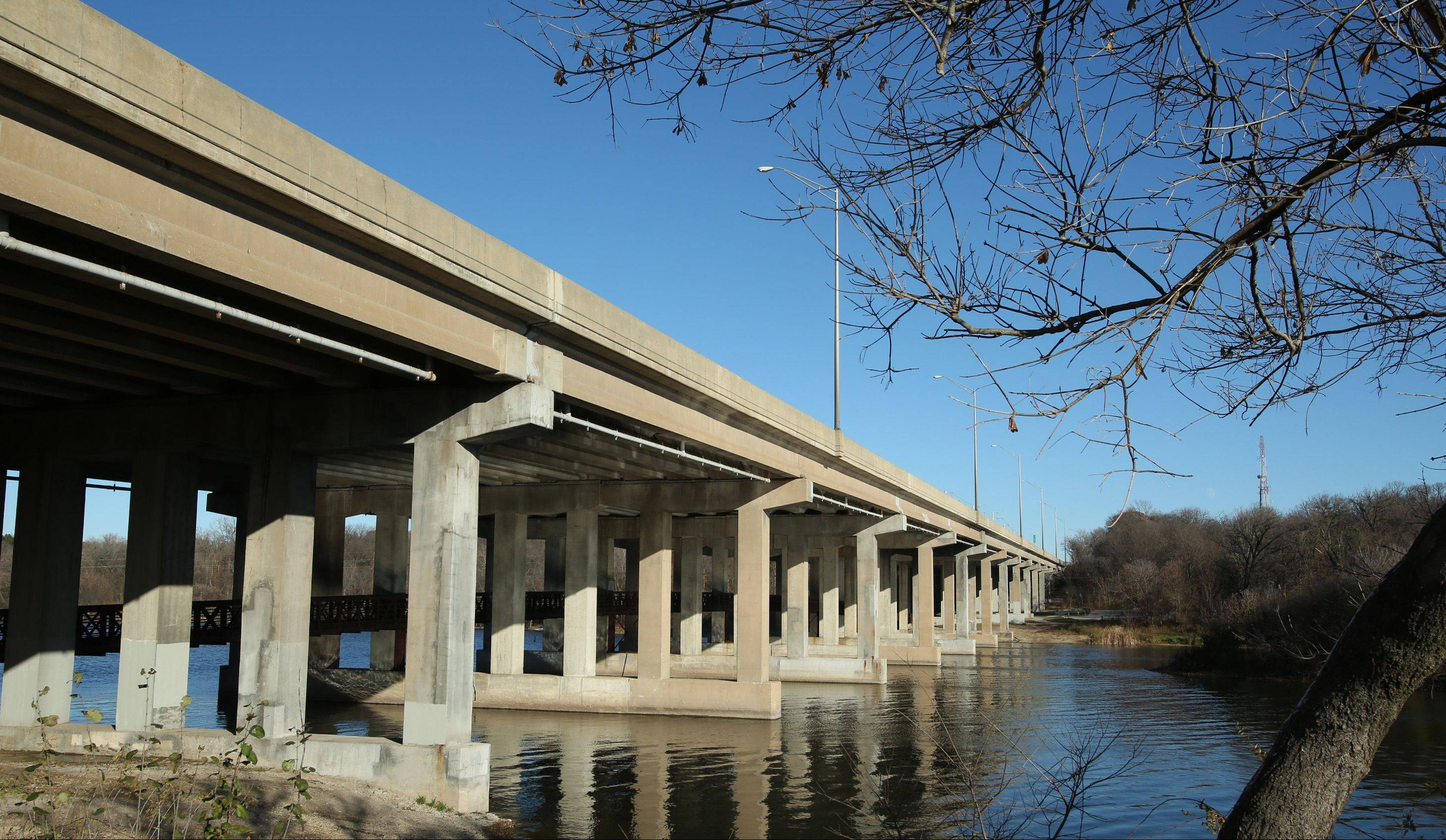 The pedestrian portion of the I-90 bridge over the Fox River will be closed during construction starting next spring.