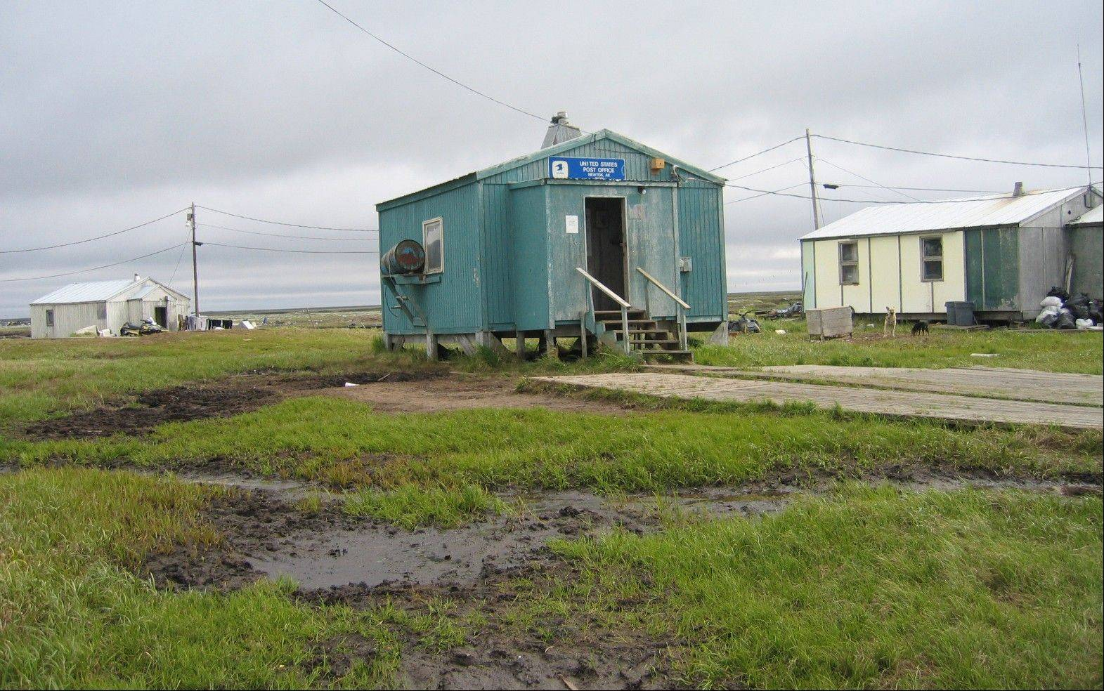 The flood-prone village of Newtok near Alaska�s storm-battered coast is running out of time as coastal erosion creeps ever closer to the Yup�ik Eskimo community.