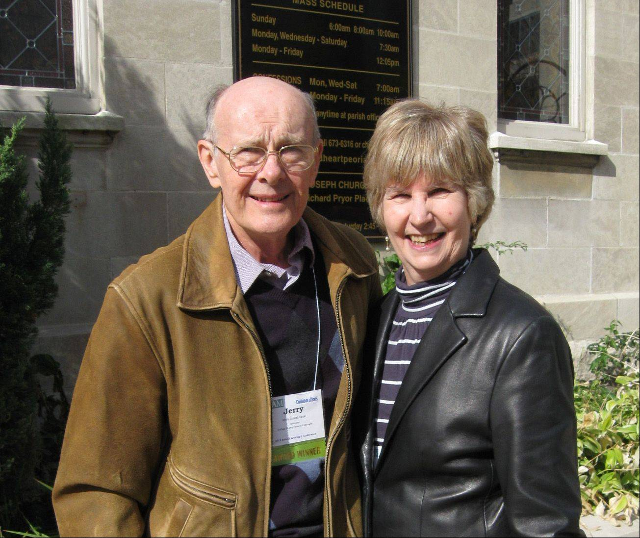 Jean and Jerry Gieraltowski of Naperville have put in 2,937 volunteer hours since 2001 at the DuPage County Historical Museum.