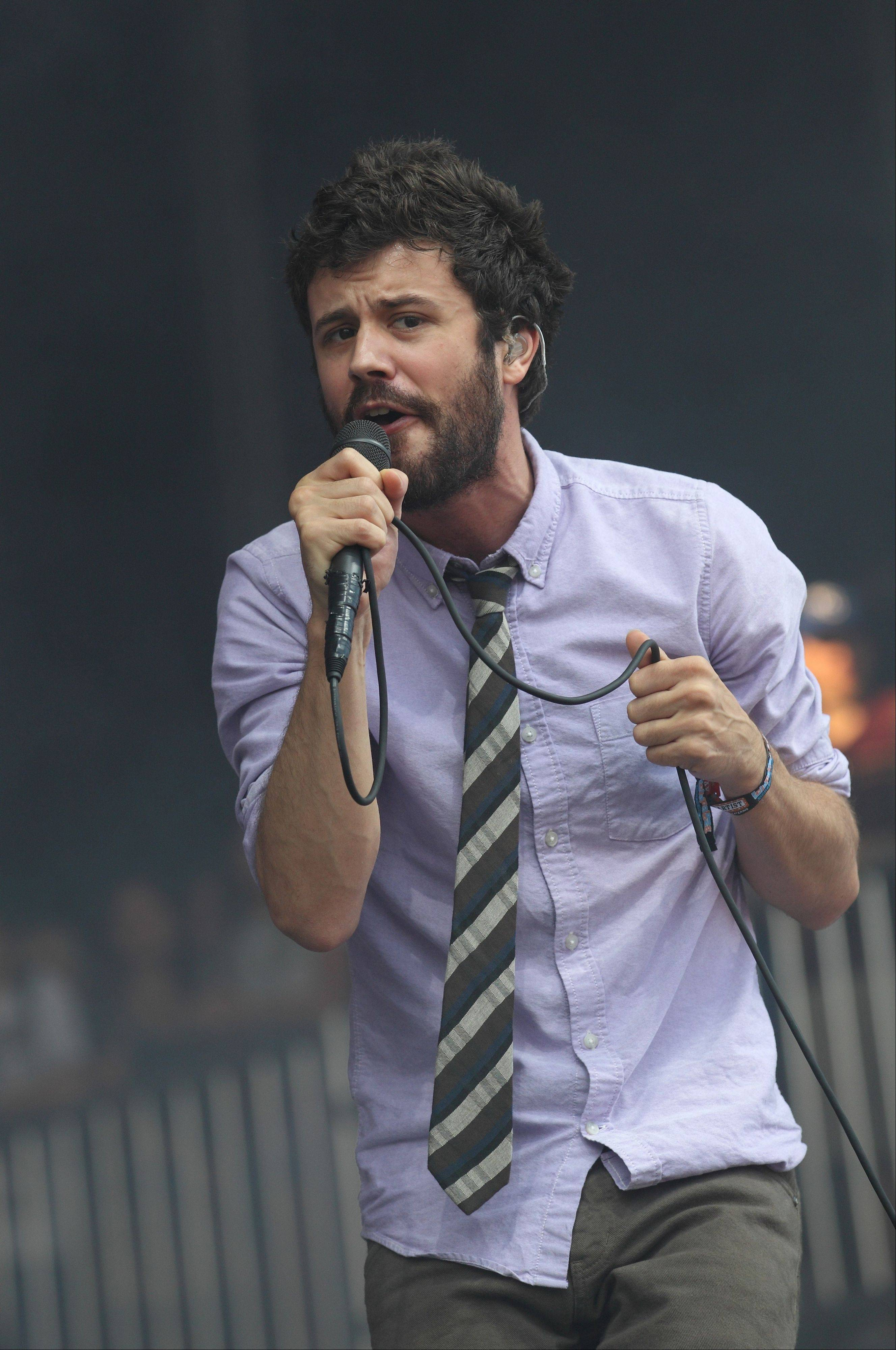 Michael Angelakos of the electro-pop band Passion Pit performs at the Lollapalooza music festival in Chicago's Grant Park on Friday, Aug. 3, 2012. This year, Passion Pit sold out Madison Square Garden.