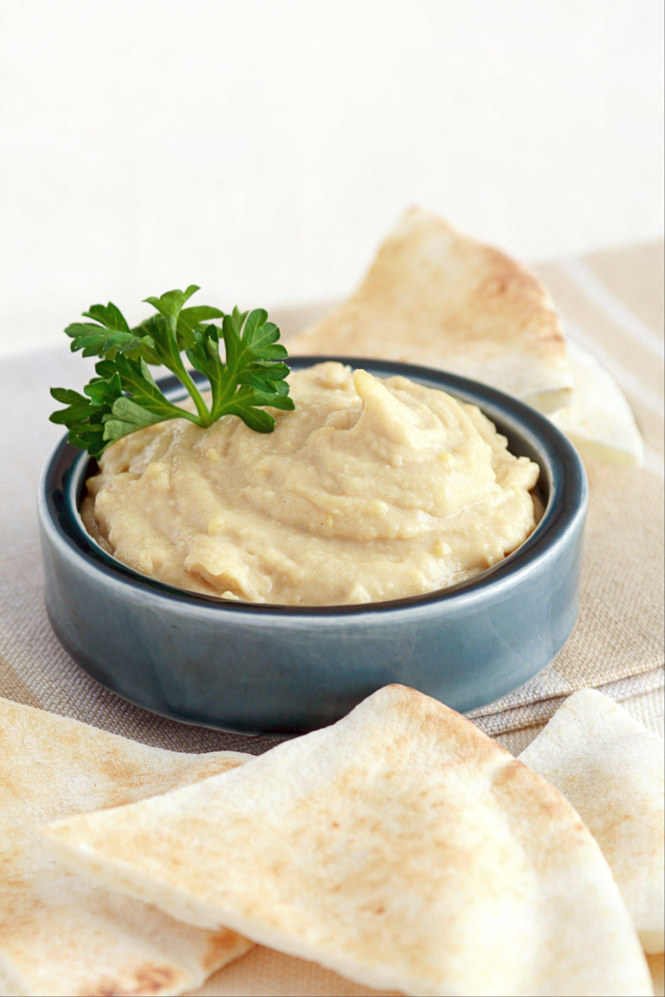 Cannelli beans stand in for chickpeas in a hummus-like dip for chips for vegetables.