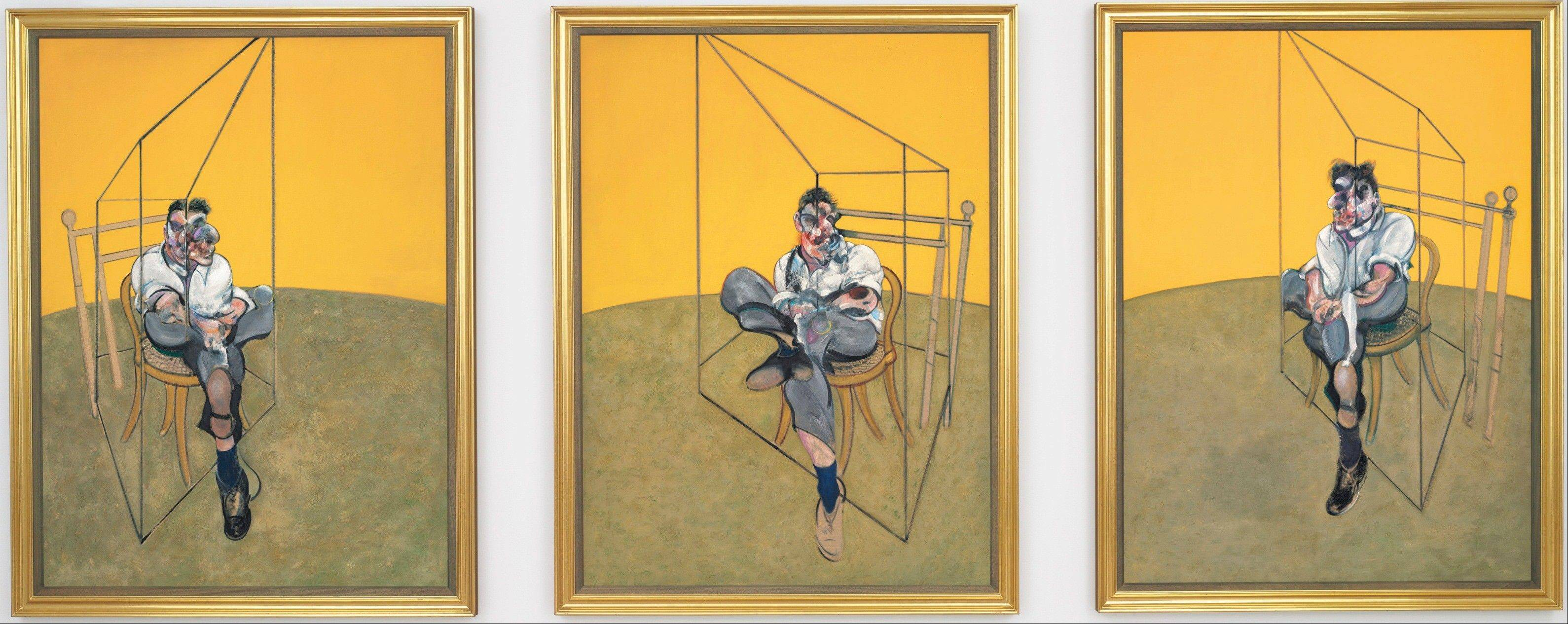 """Three Studies of Lucian Freud,"" a triptych by Francis Bacon of his friend and artist Lucian Freud, sold for the most money ever paid for an auctioned painting."