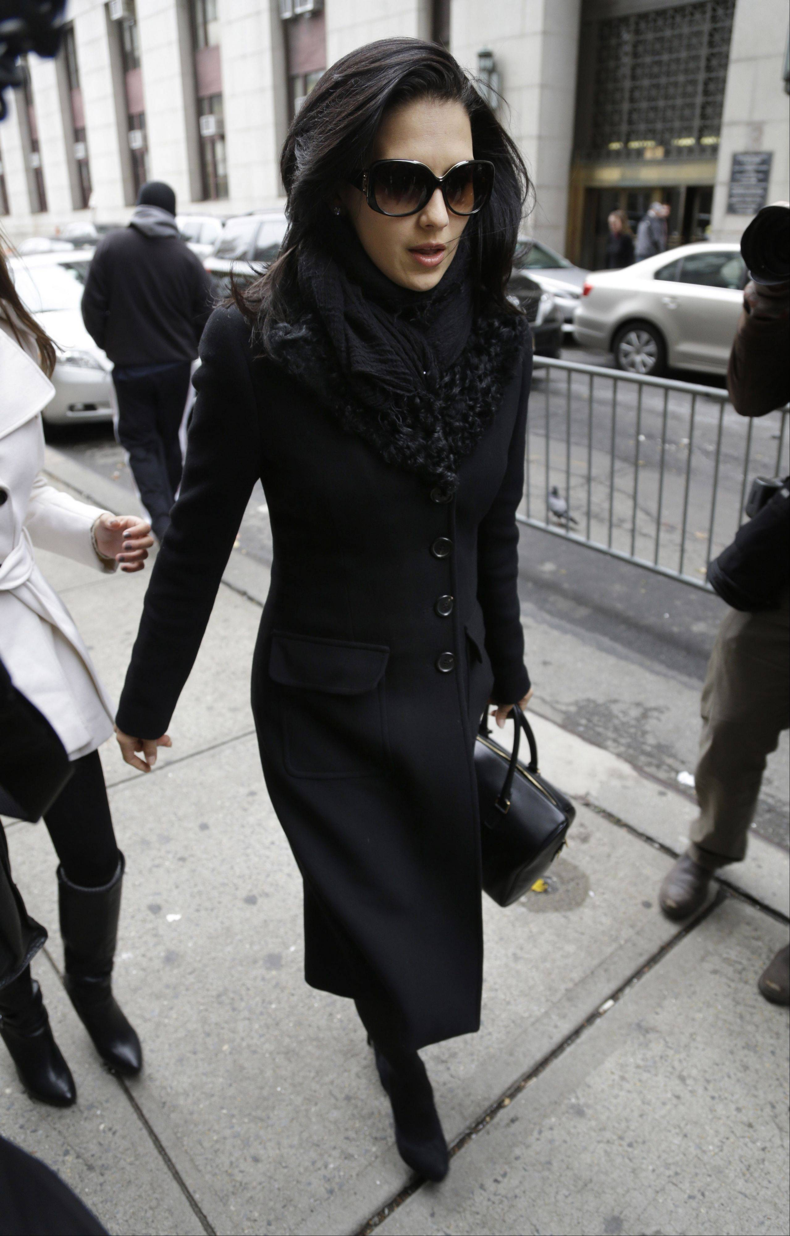 Hilaria Baldwin, wife of actor Alec Baldwin, arrives to court in New York.