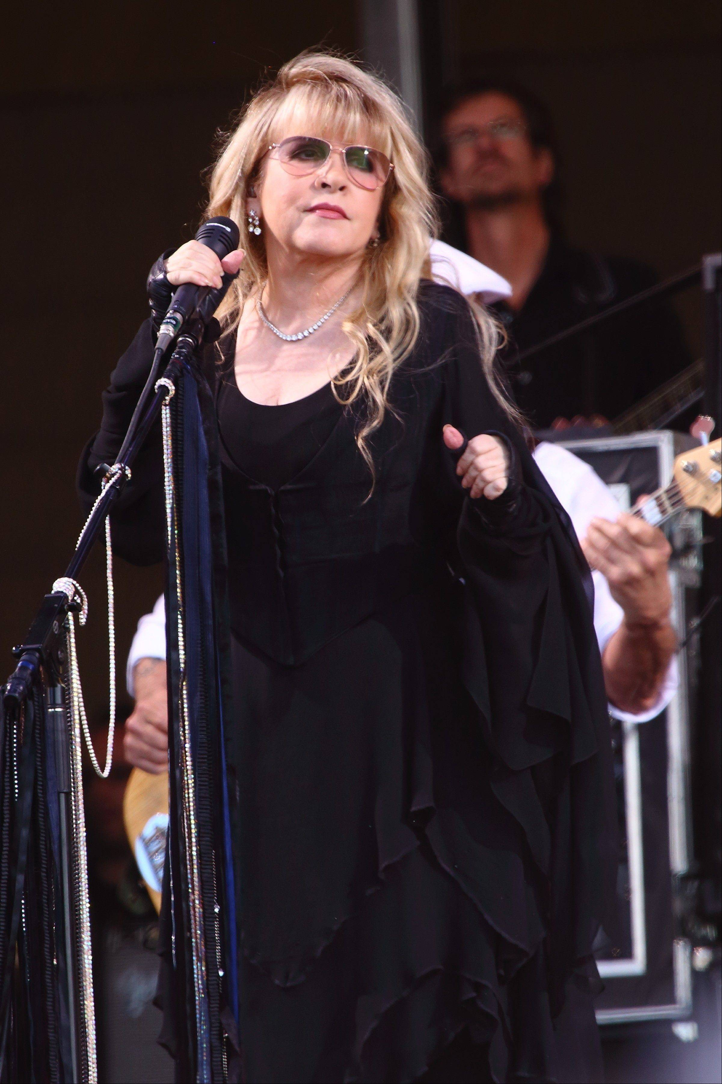 Stevie Nicks of Fleetwood Mac performs at The New Orleans Jazz & Heritage Festival in New Orleans, La.