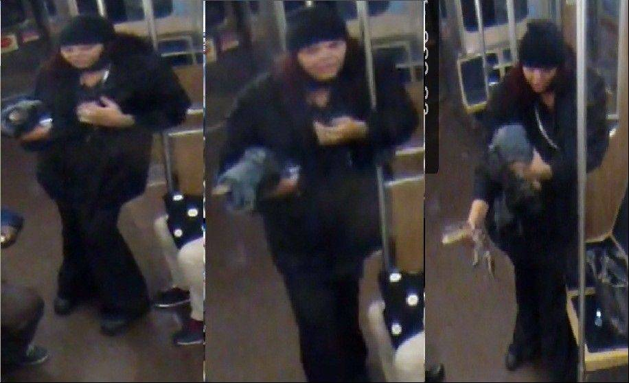 The Chicago Transit Authority has releasd these images of the woman they believe took an alligator on the Blue Line before leaving it at O'Hare International Airport.