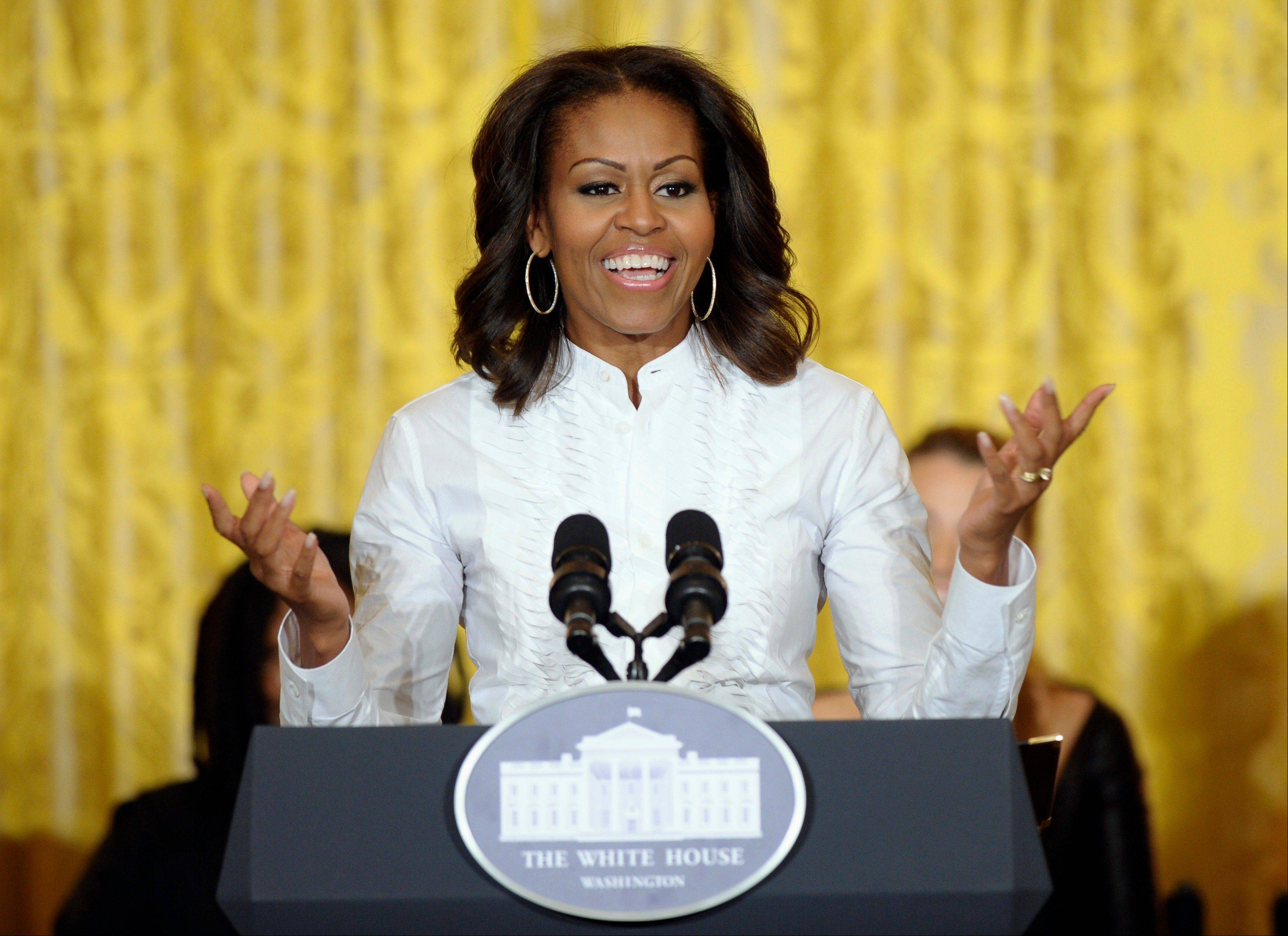 First lady Michelle Obama is joining President Barack Obama's efforts to get the United States on track to have the highest percentage of college graduates by 2020.