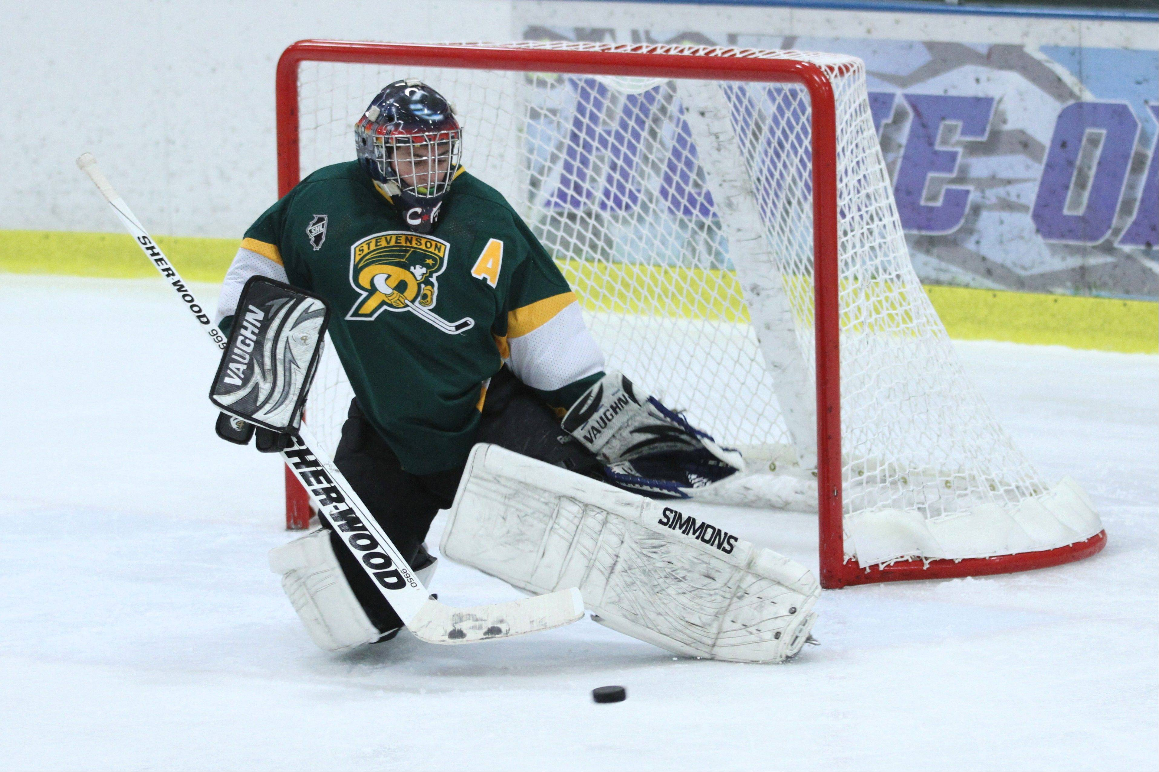 Goalie Corey Benjoya has overcome adversity to help lead Stevenson's hockey team to an 11-3-2 start.