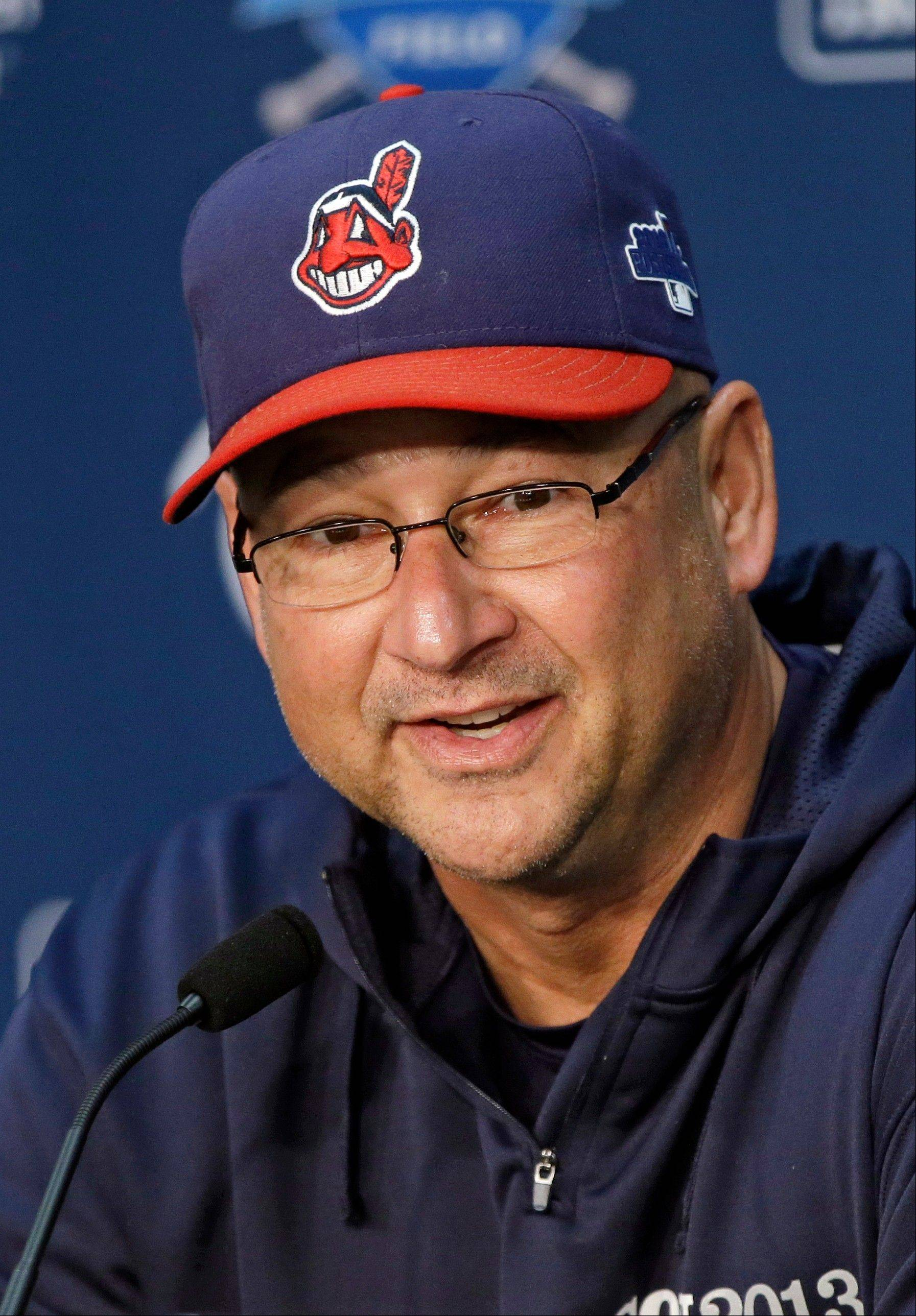 Cleveland Indians manager Terry Francona was named the AL manager of the year by the Baseball Writers' Association of America on Tuesday.
