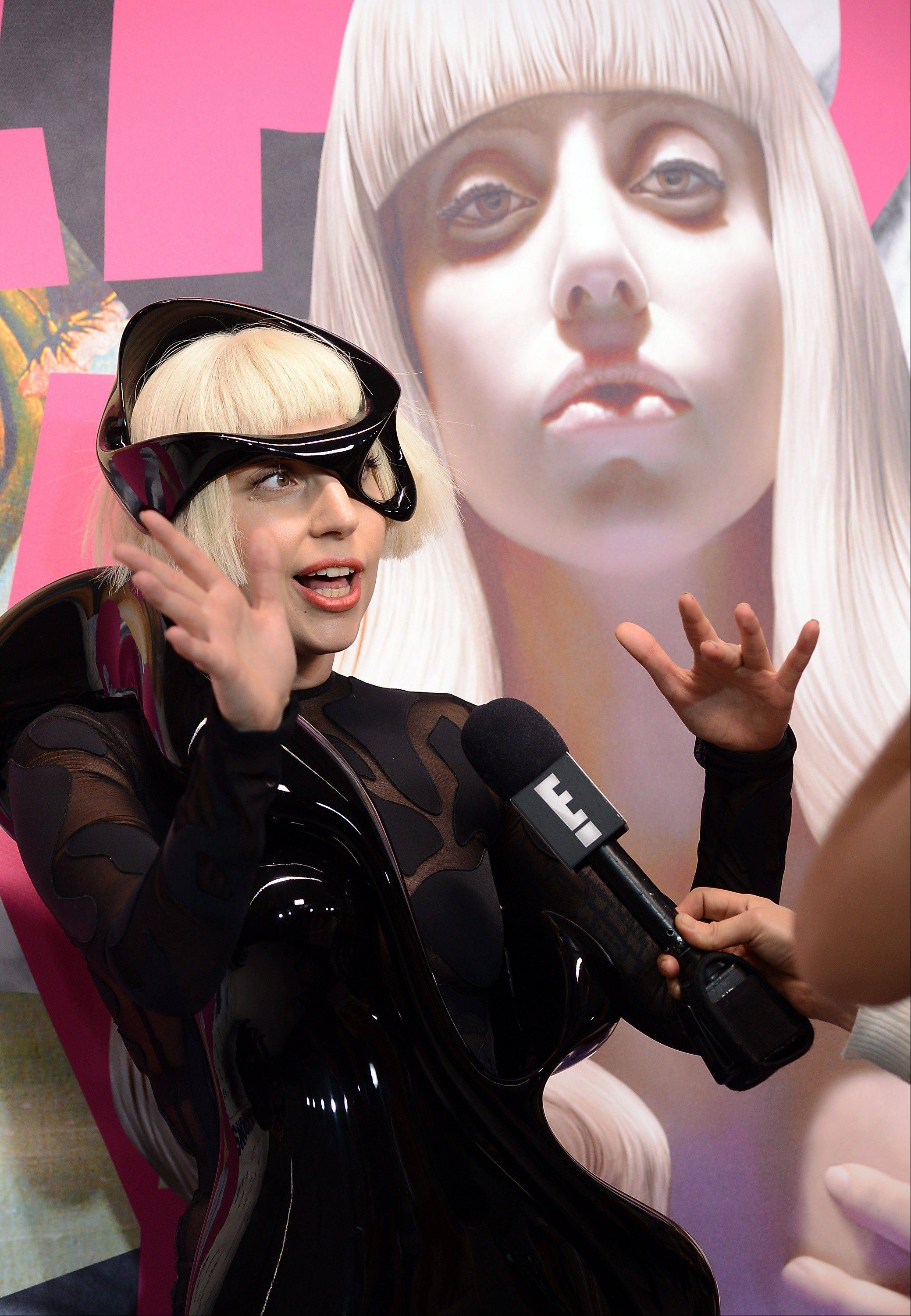 Singer Lady Gaga attends her ARTPOP album release and artRave event the Brooklyn Navy Yard on Sunday, Nov. 10, 2013 in New York City.