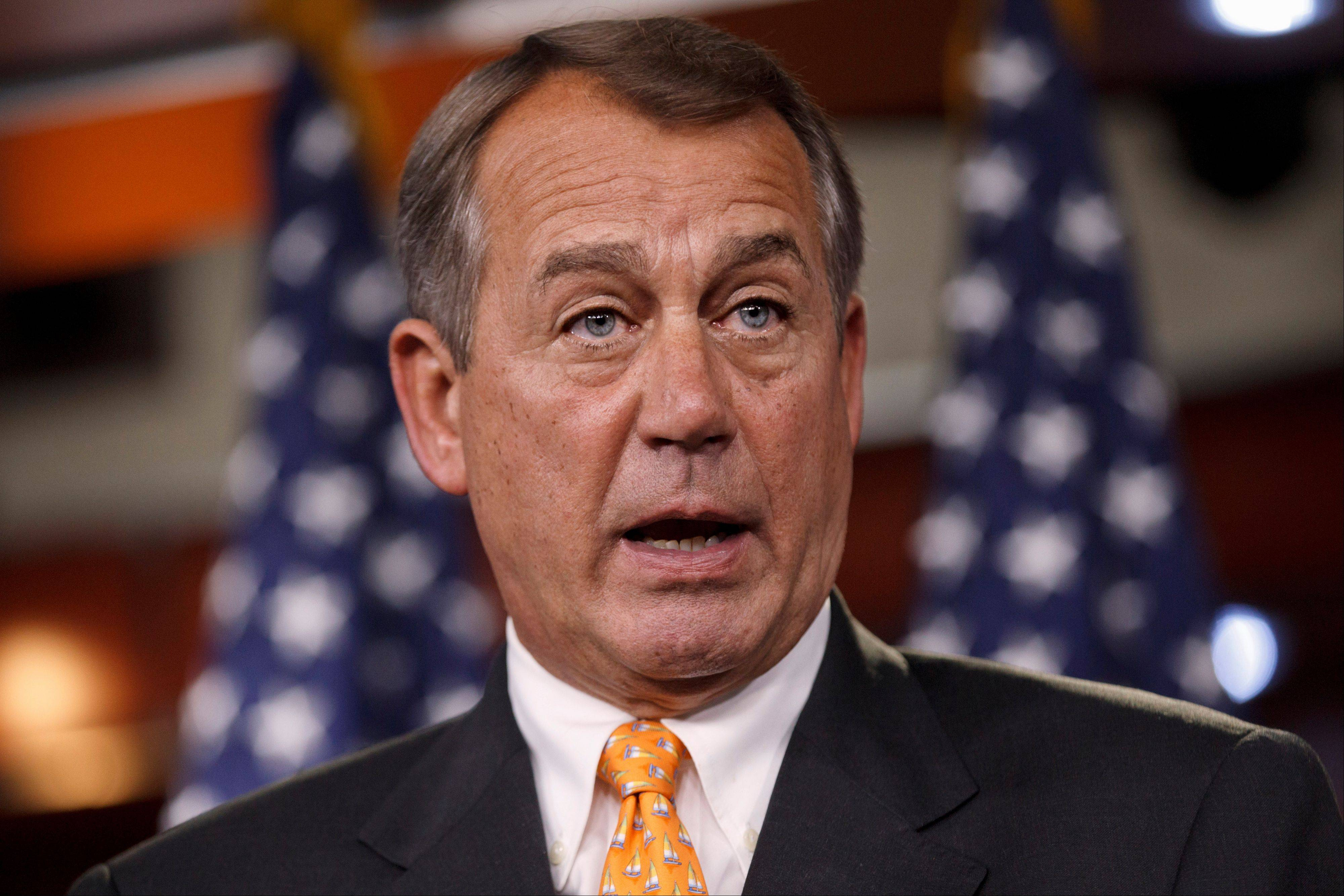 Speaker John Boehner said Wednesday that the House will not hold formal, compromise talks on the Senate-passed comprehensive immigration bill, a fresh signal from the Republican leadership that the issue is dead for the year.